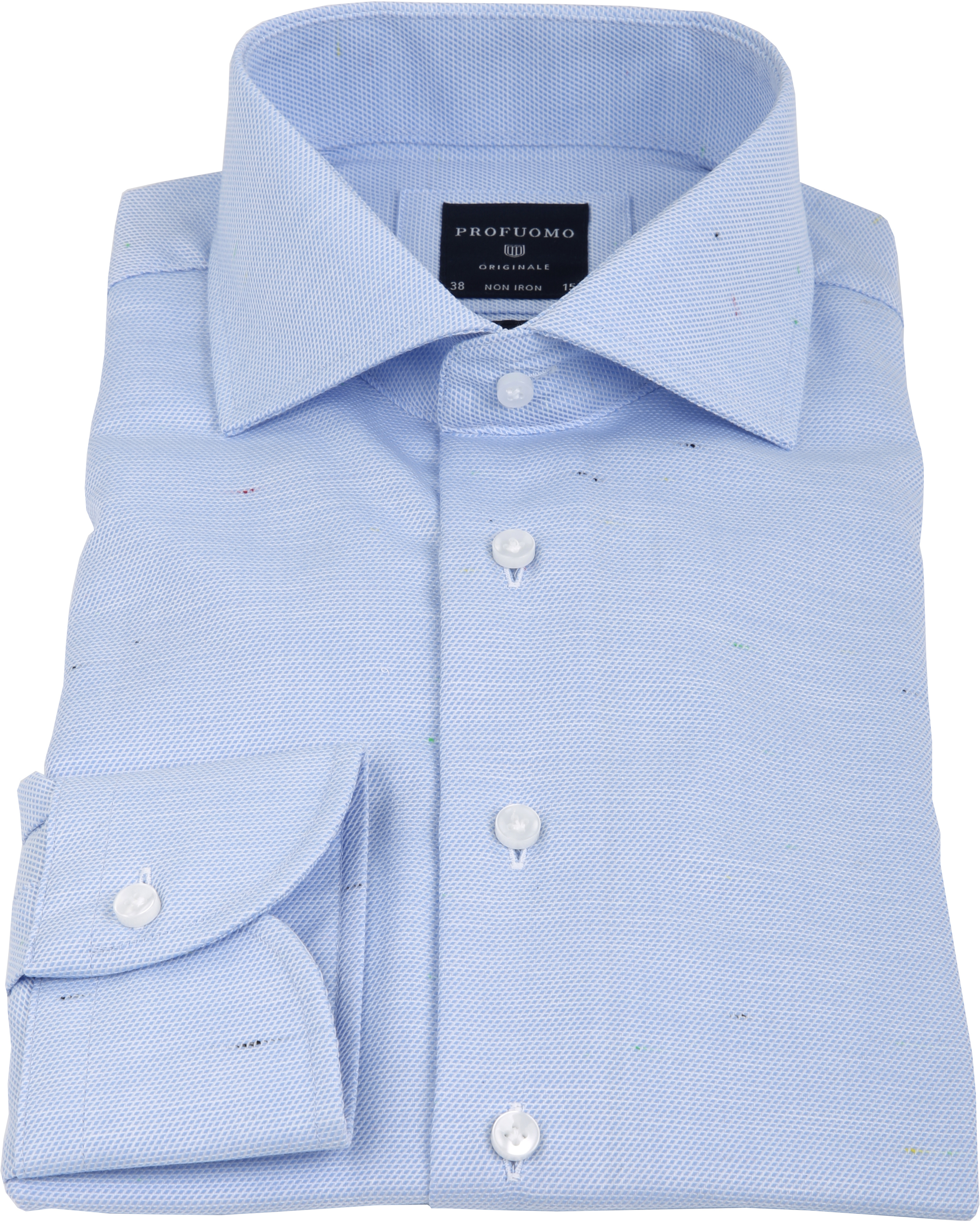 Profuomo Overhemd Dessin Blauw CAW foto 3