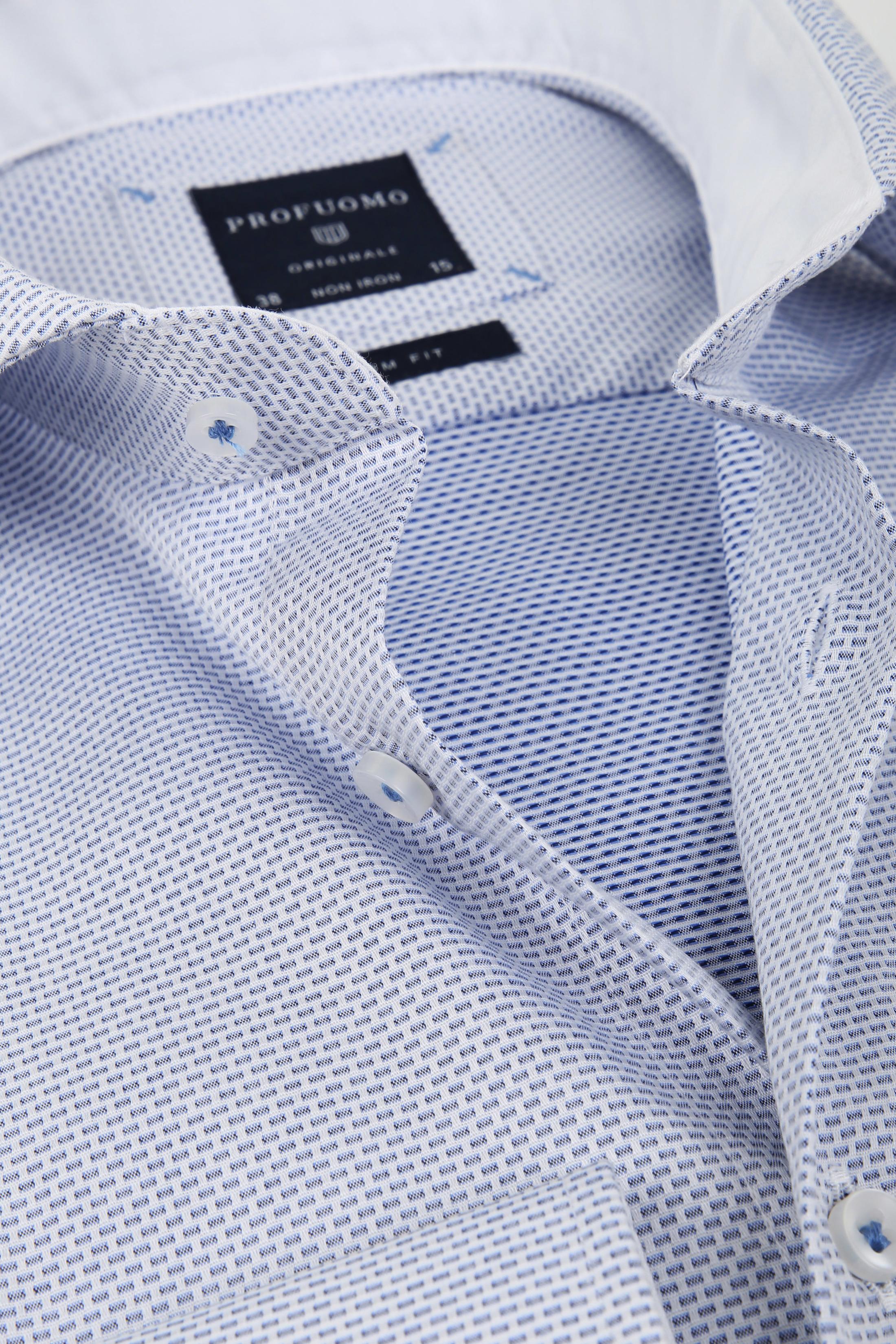 Profuomo Overhemd Dessin Blauw SF foto 1