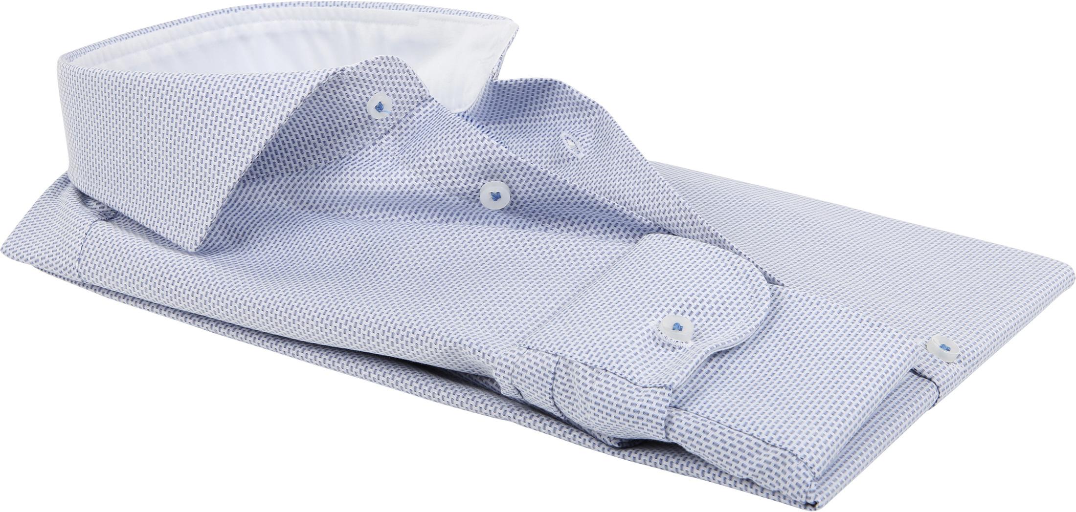 Profuomo Overhemd Dessin Blauw SF foto 3