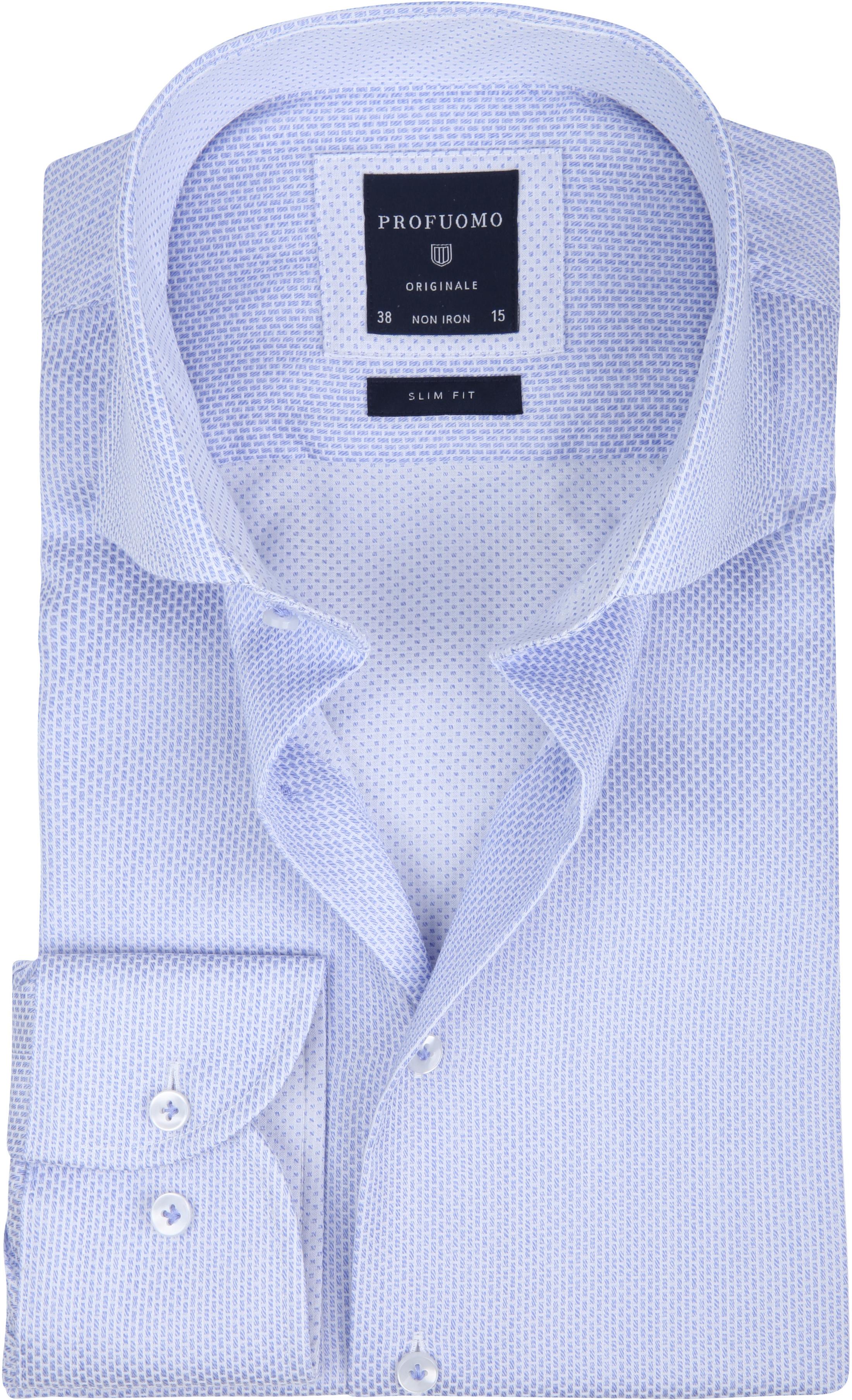 Profuomo Overhemd Dessin Blue foto 0