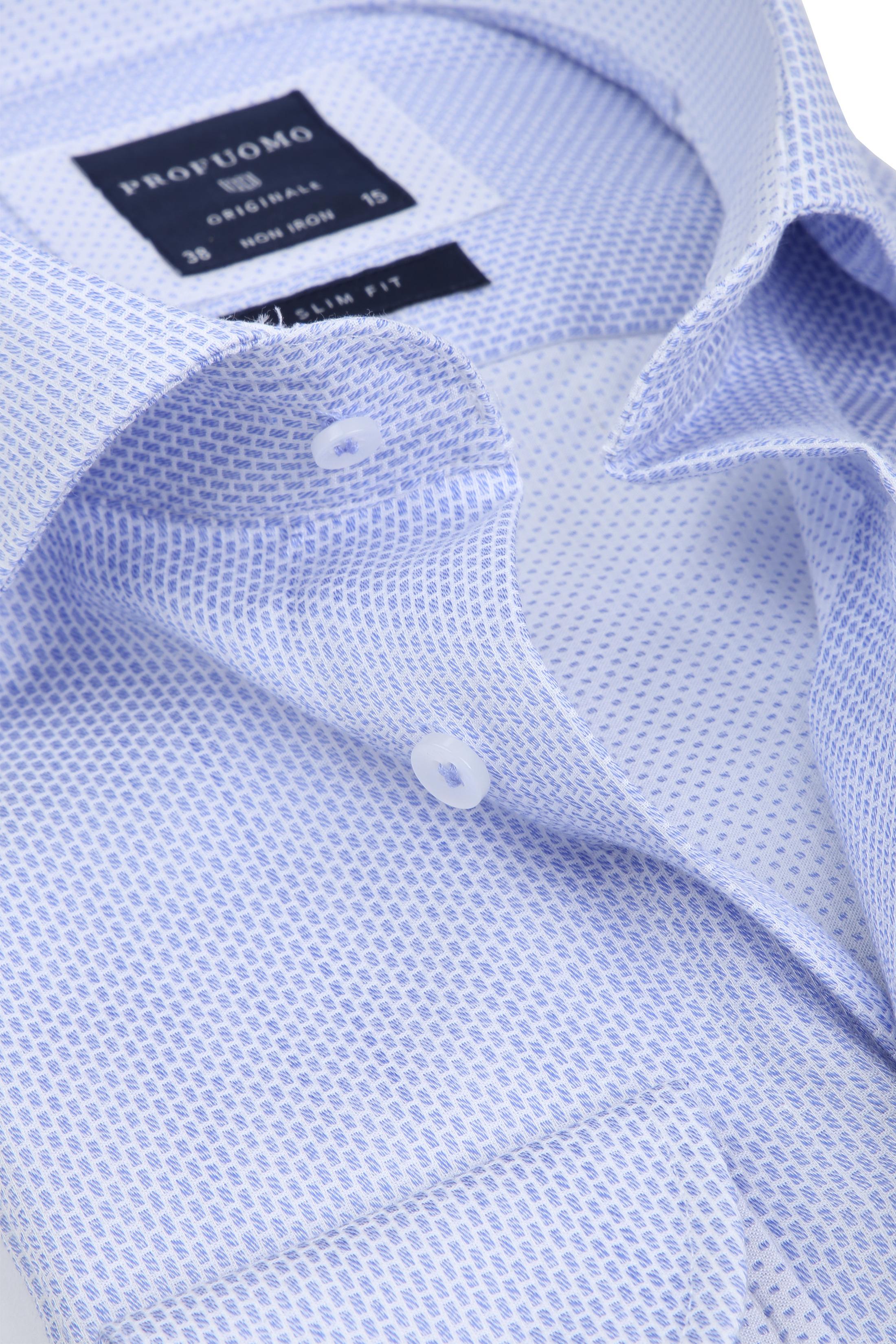 Profuomo Overhemd Dessin Blue foto 1