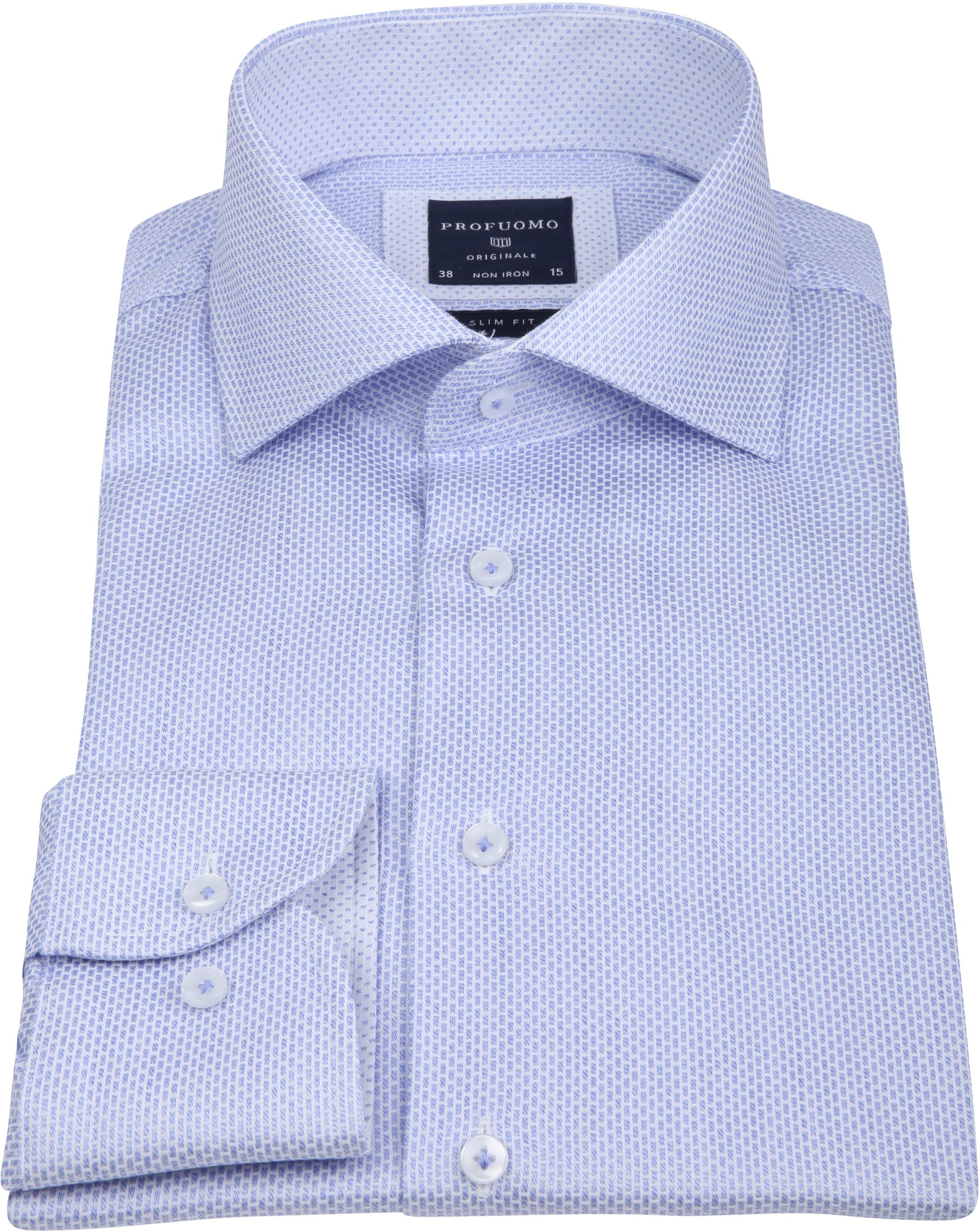 Profuomo Overhemd Dessin Blue foto 3
