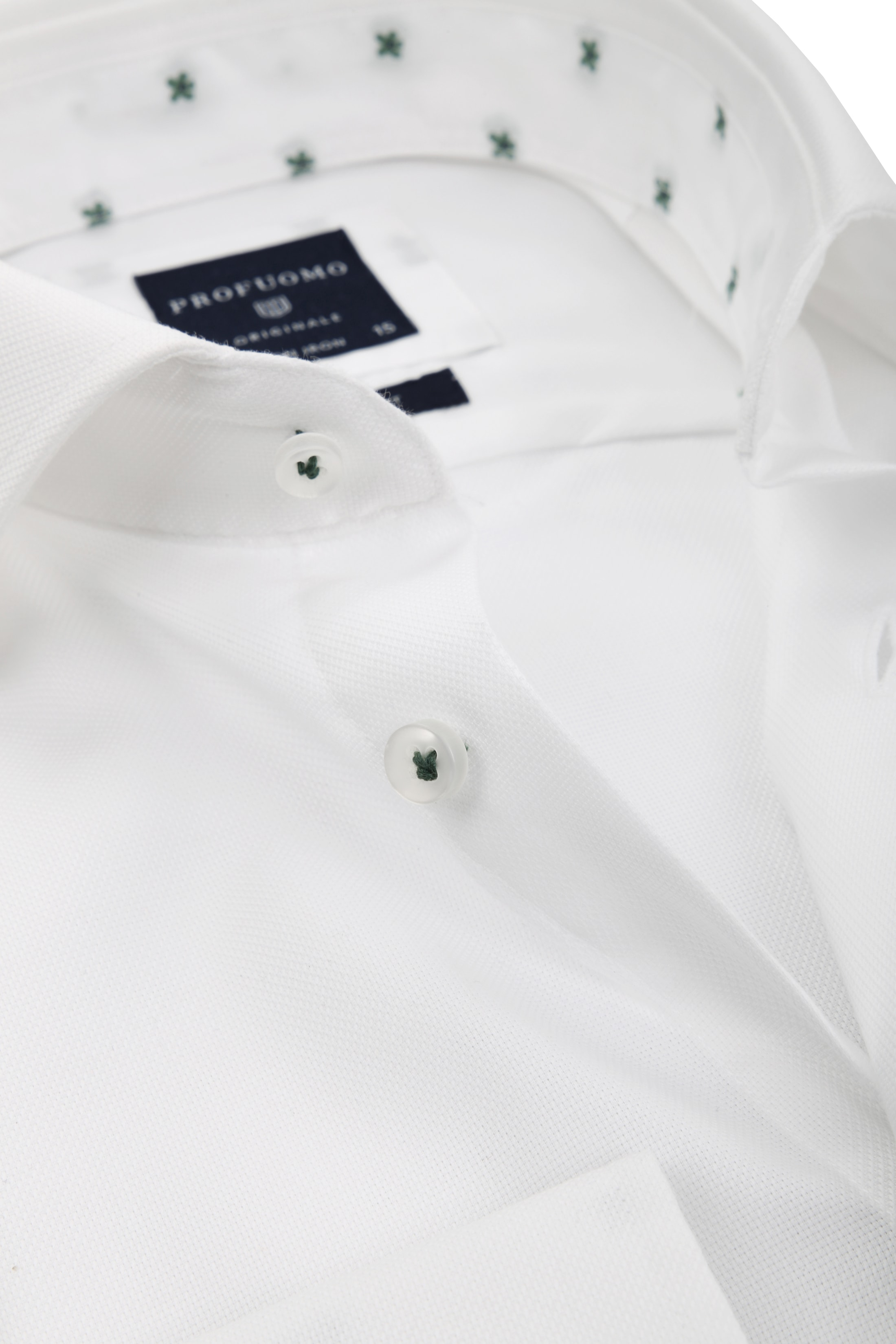 Profuomo Overhemd Dessin Wit CAW foto 1