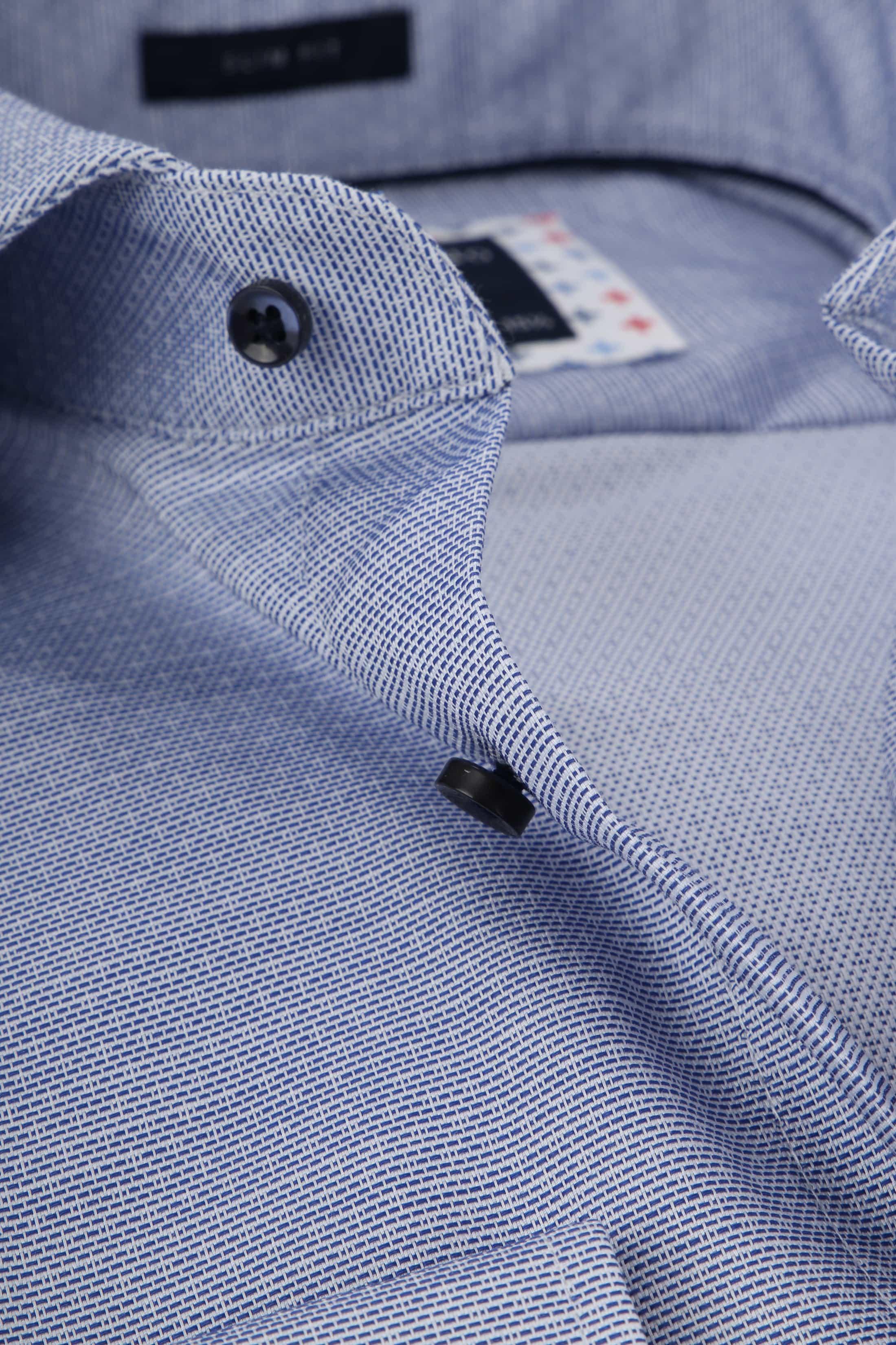 Profuomo Overhemd Dobby Blauw foto 1