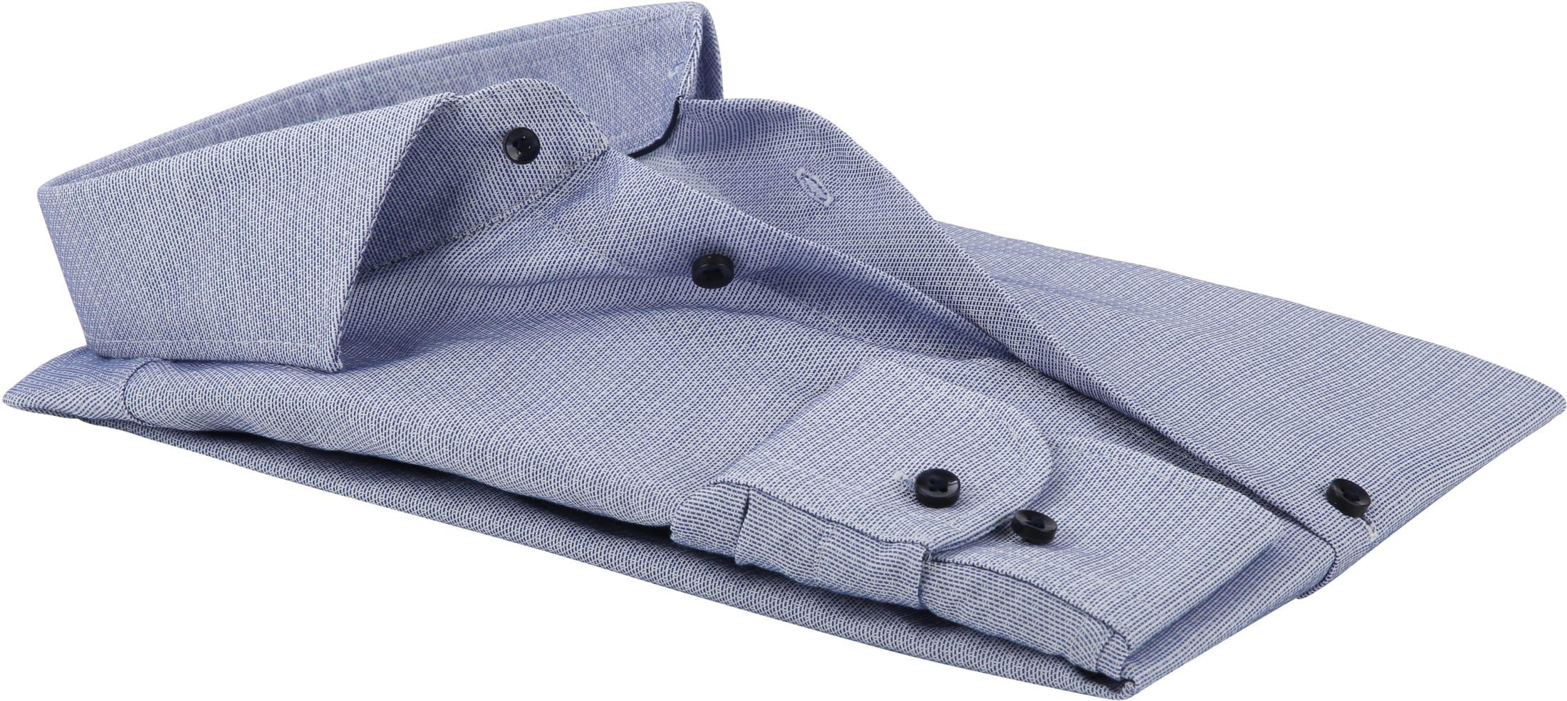 Profuomo Overhemd Dobby Blauw foto 2