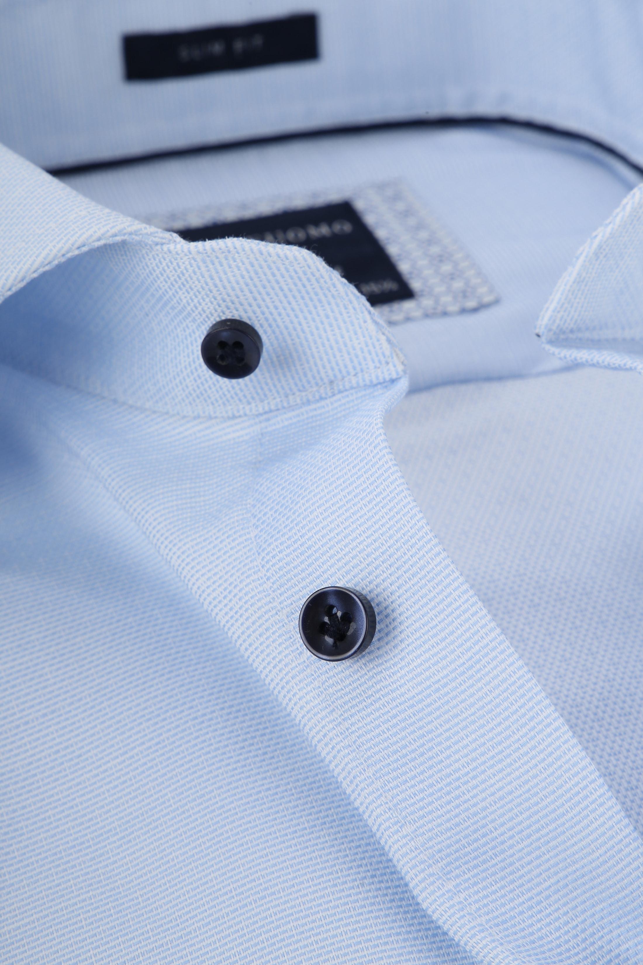 Profuomo Overhemd Dobby Lichtblauw foto 1