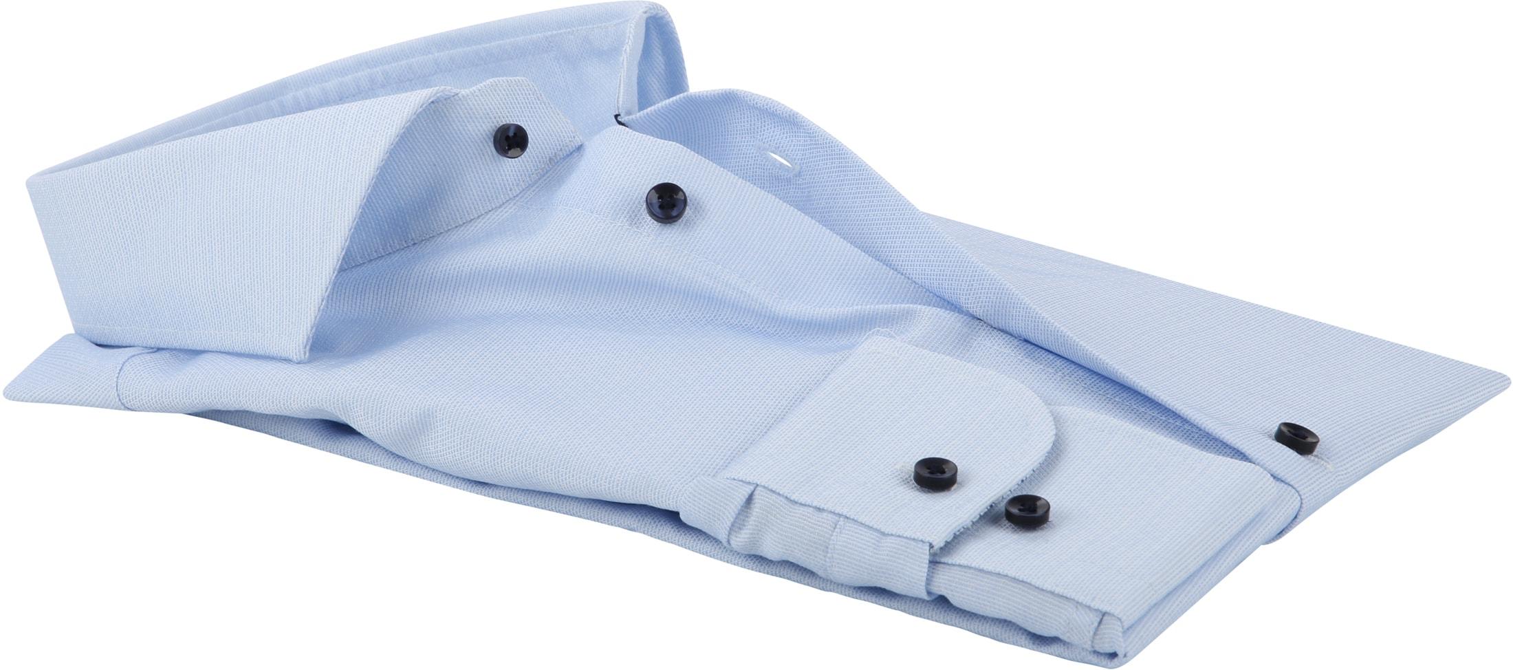 Profuomo Overhemd Dobby Lichtblauw foto 2
