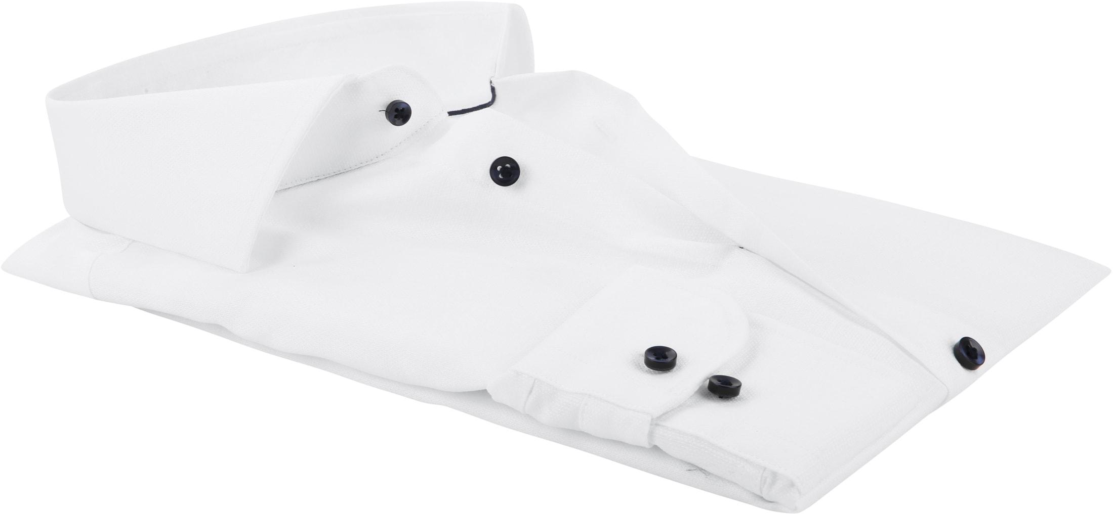 Profuomo Overhemd Dobby Wit foto 2