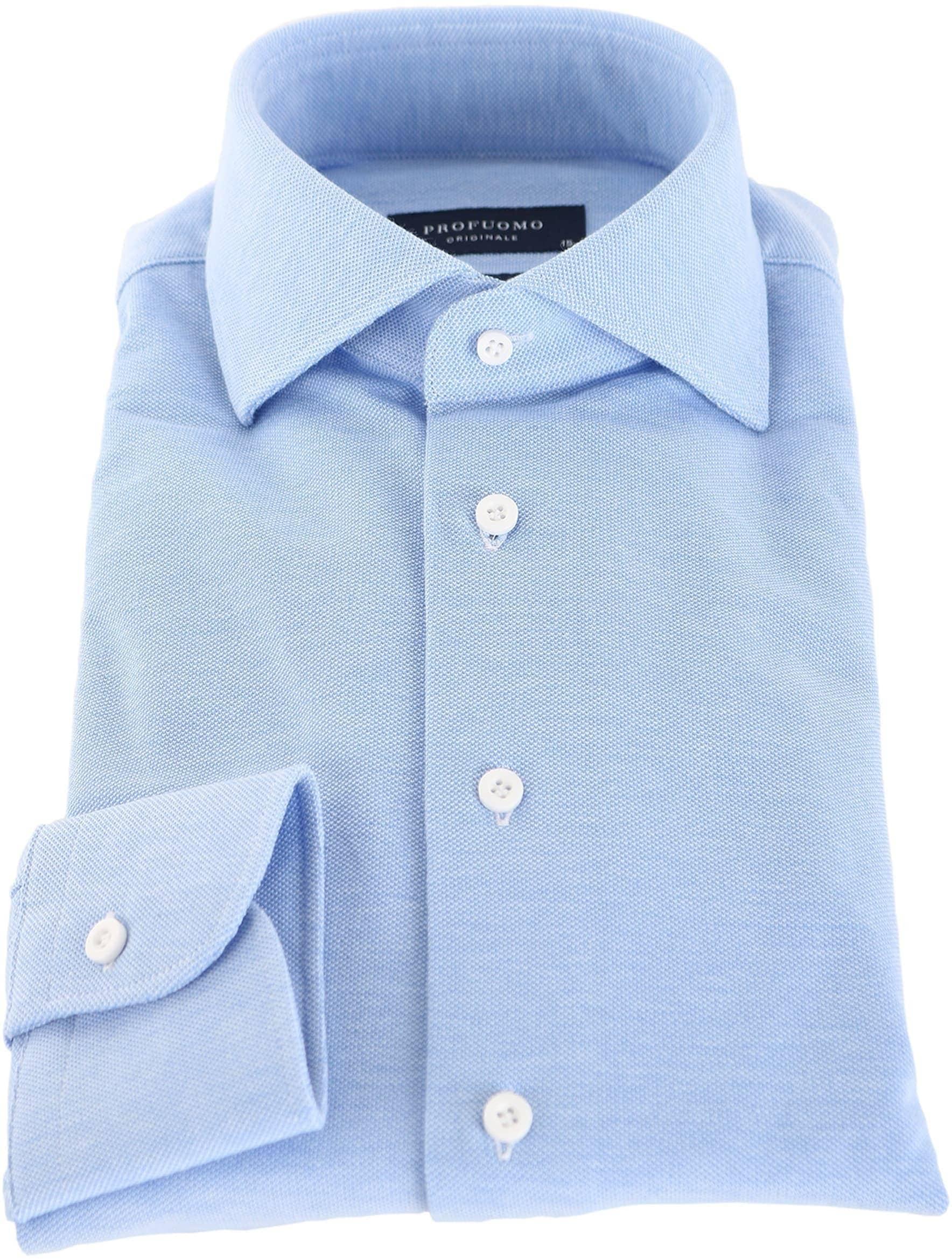 Profuomo Overhemd Knitted Blauw foto 1