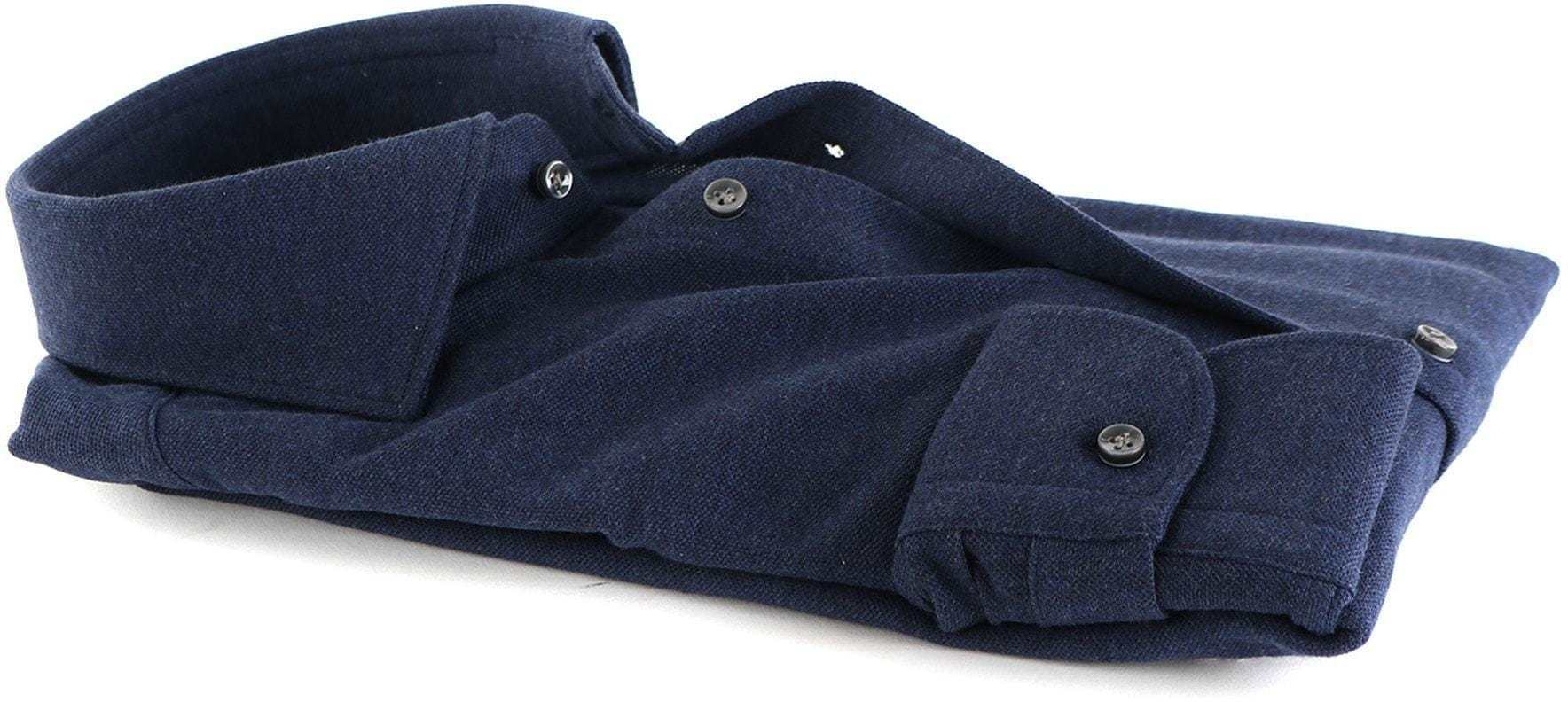 Profuomo Overhemd Knitted Donkerblauw foto 2