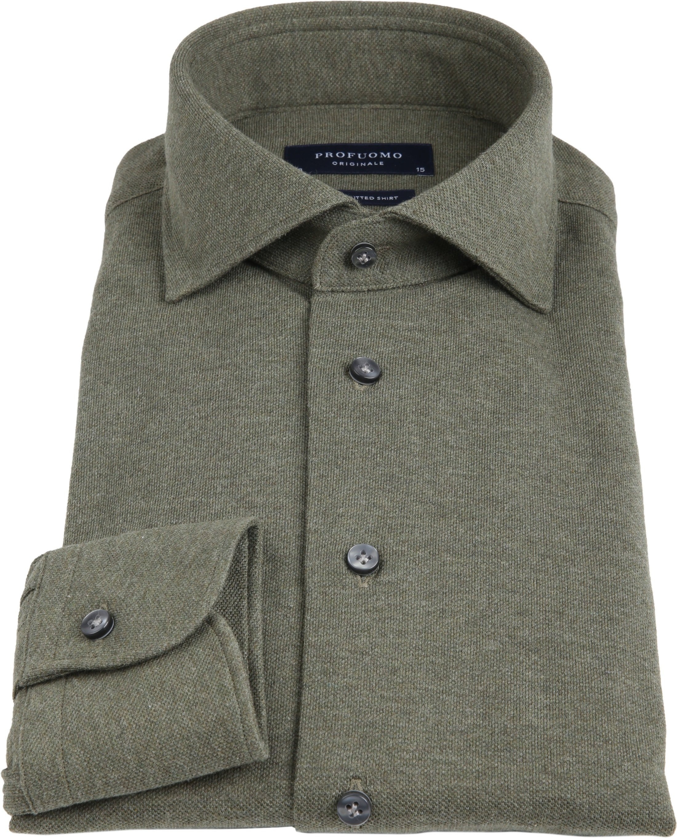 Profuomo Overhemd Knitted Groen