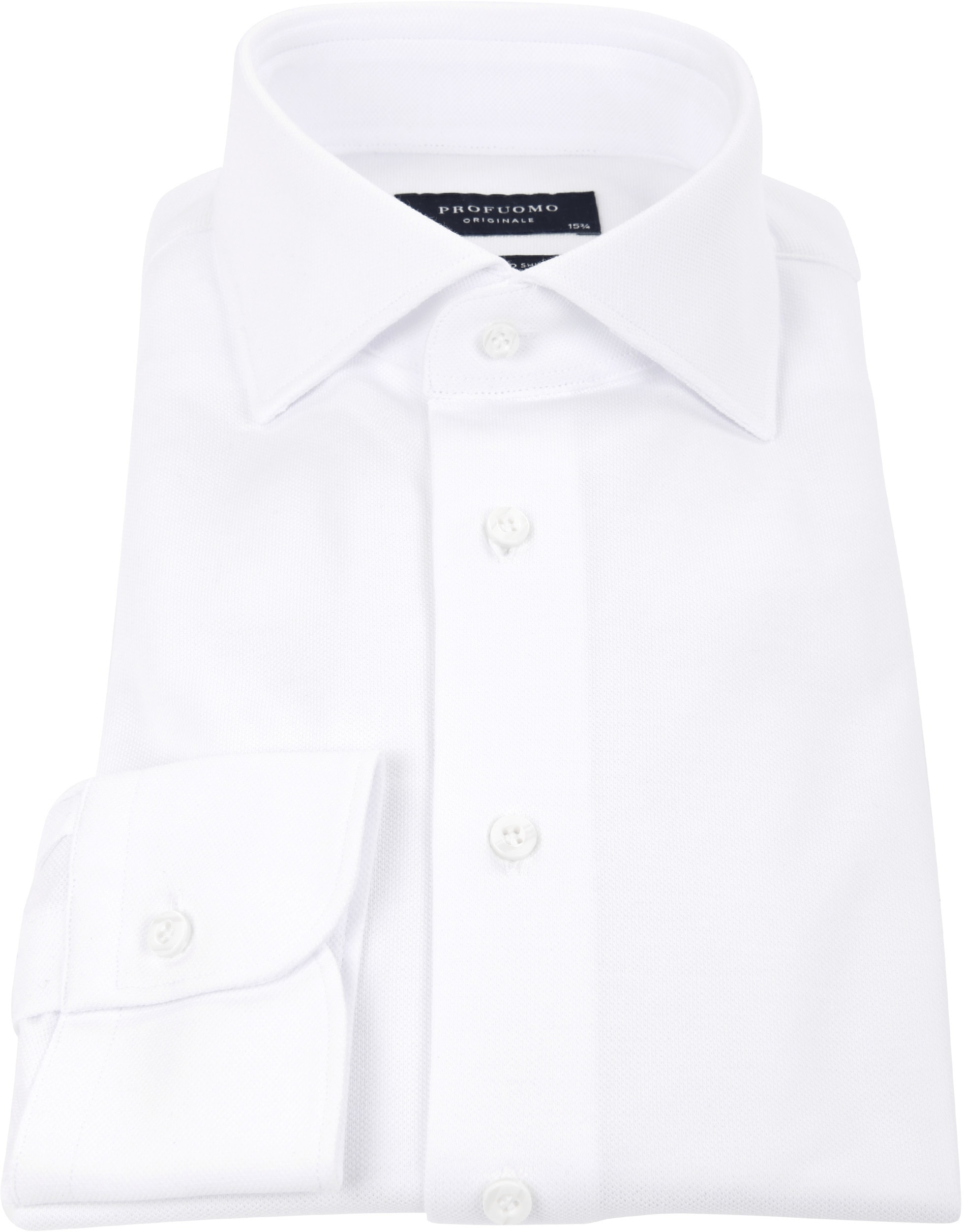 Profuomo Overhemd Knitted White WS photo 3