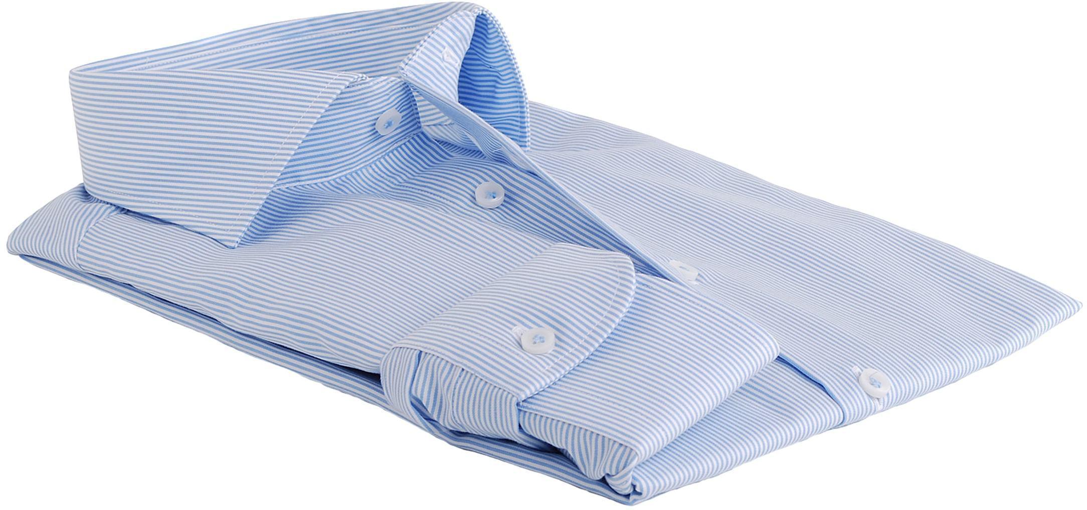 Profuomo Overhemd Lichtblauw Gestreept foto 1