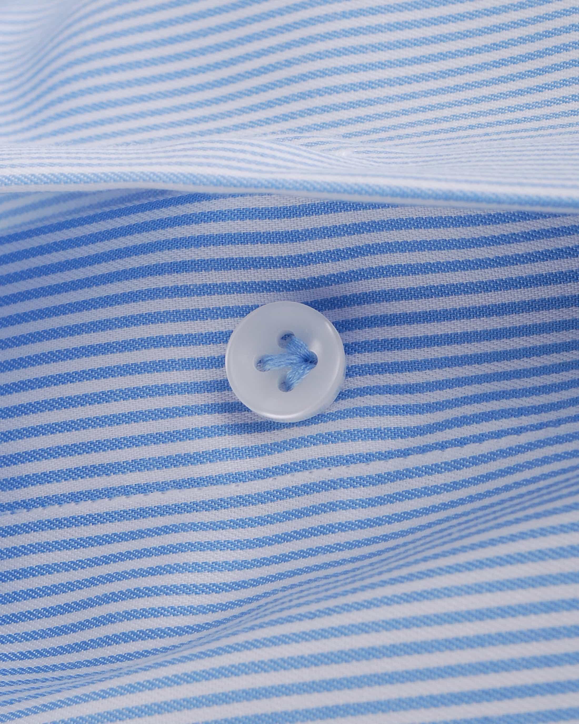 Profuomo Overhemd Lichtblauw Gestreept foto 2