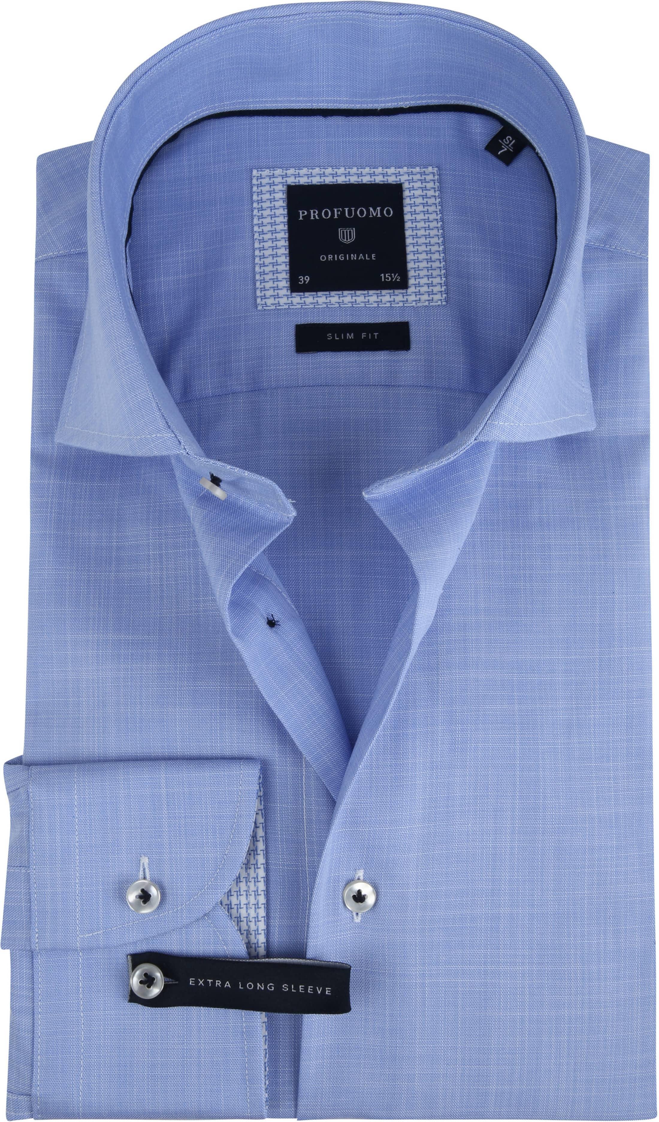 Profuomo Overhemd Melange Blauw SL7 foto 0