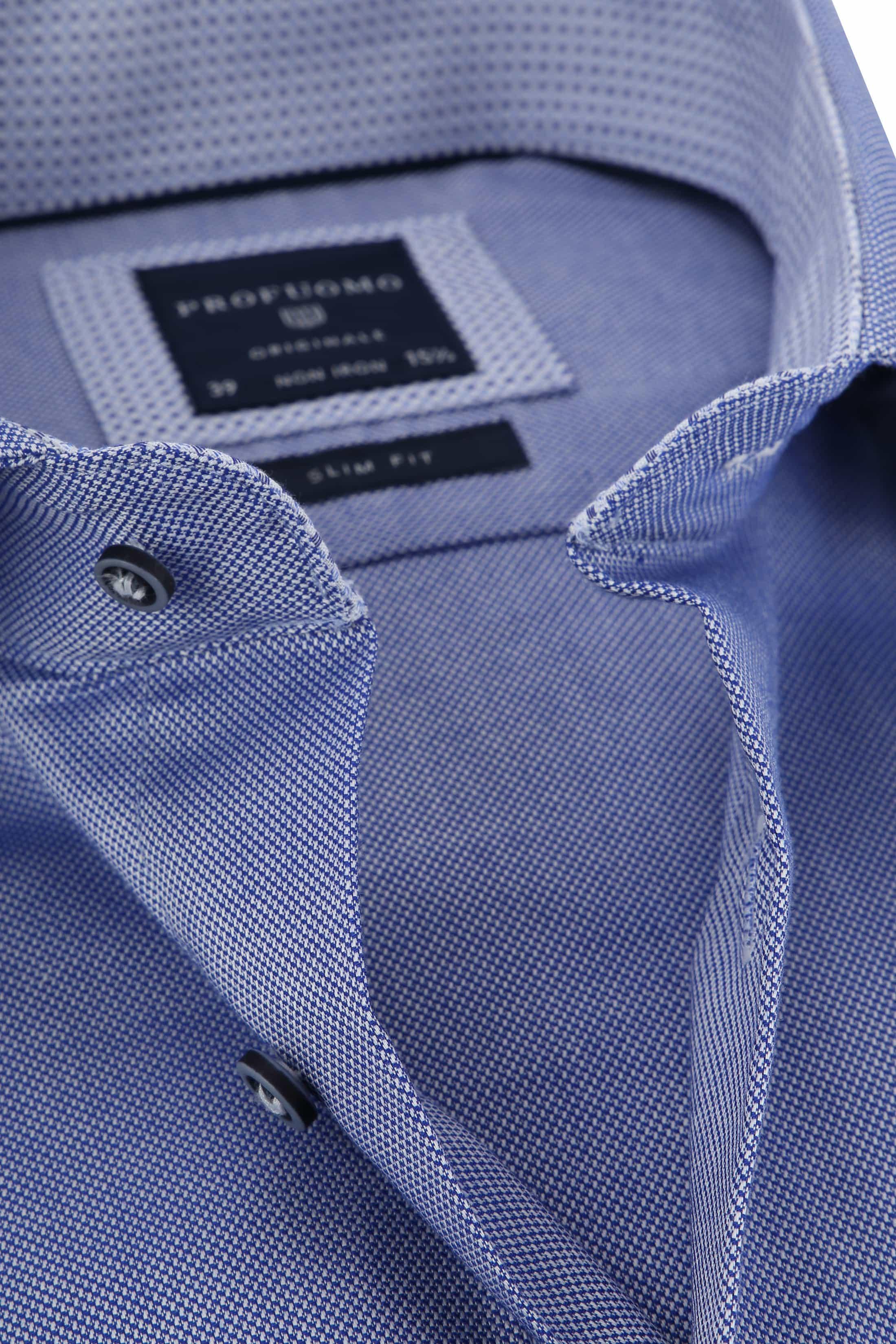 Profuomo Overhemd Navy CAW foto 1