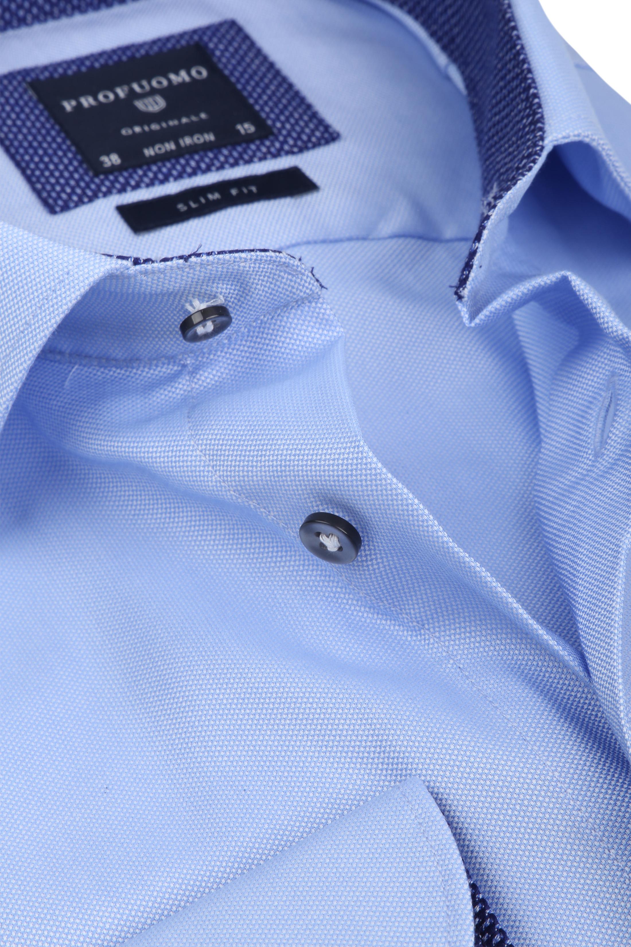 Profuomo Overhemd Non Iron Blauw foto 1