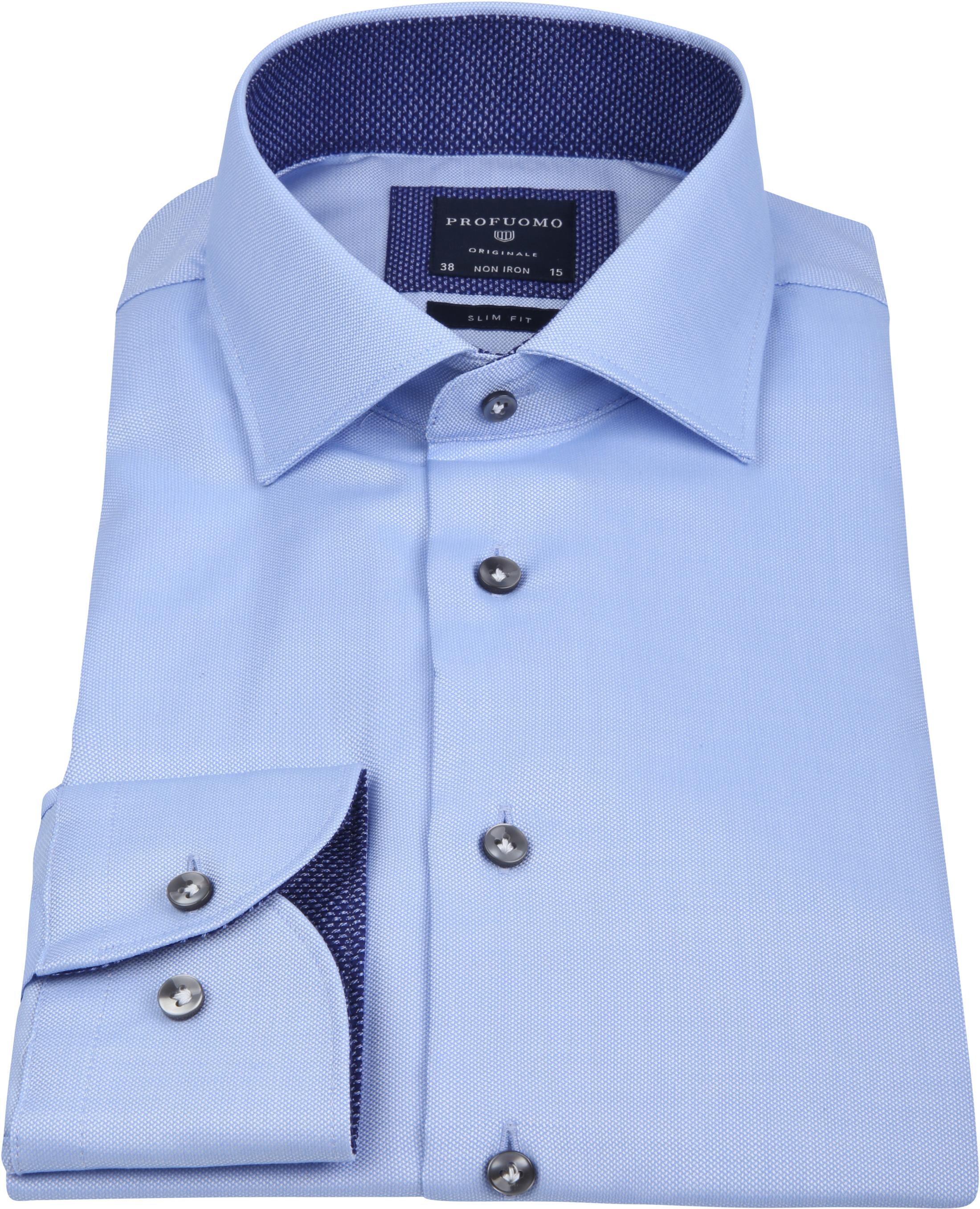 Profuomo Overhemd Non Iron Blauw foto 3