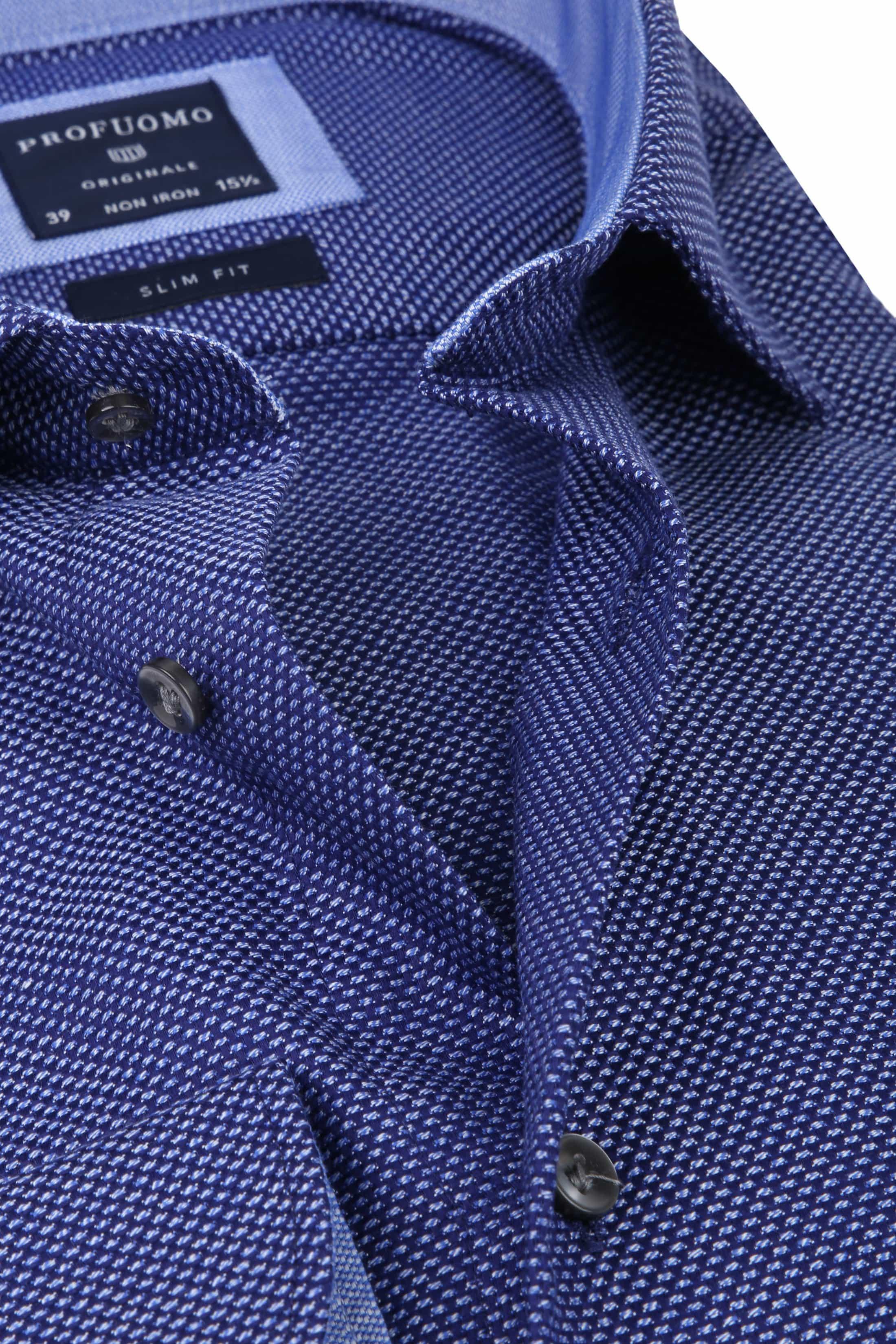 Profuomo Overhemd Oxford Navy Dessin foto 1