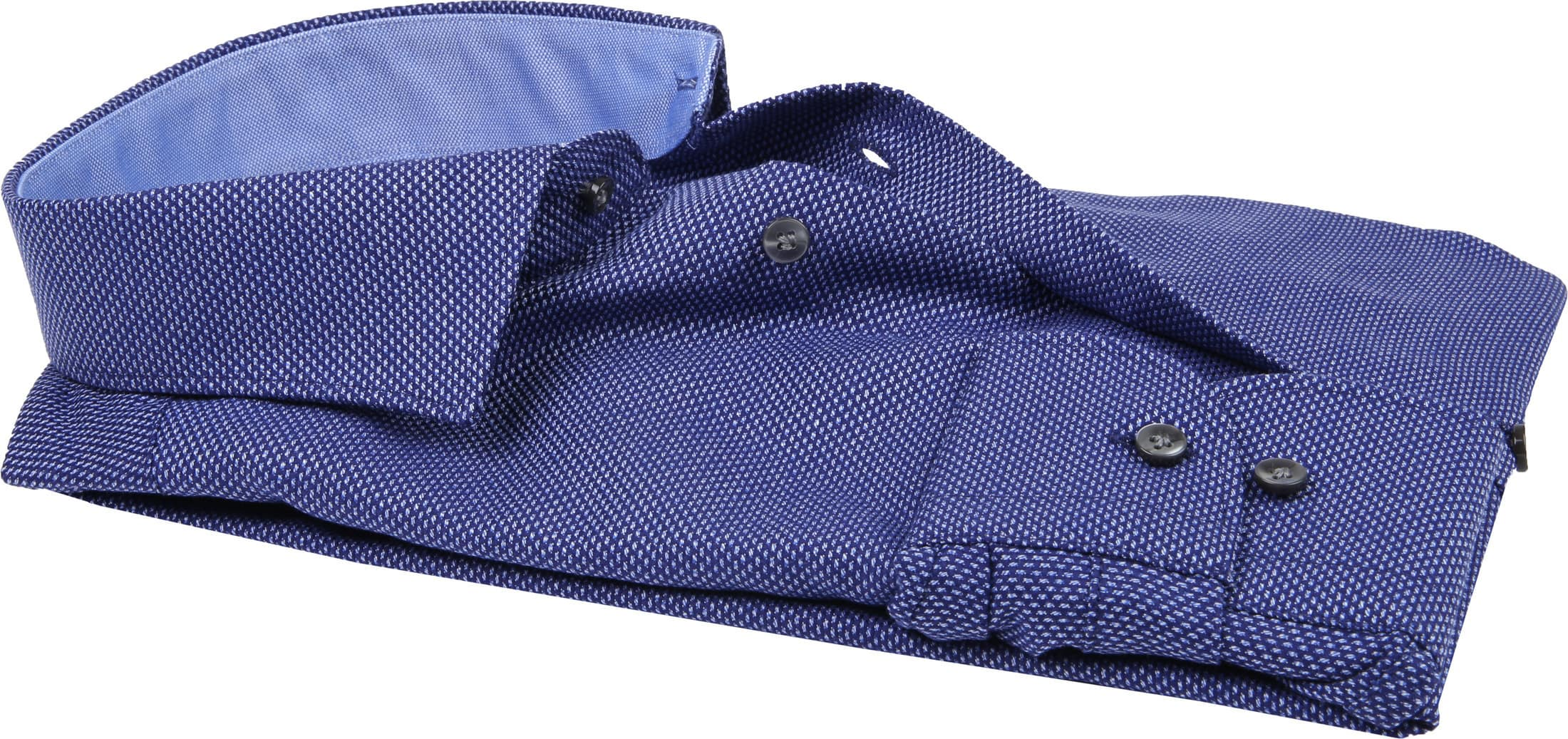 Profuomo Overhemd Oxford Navy Dessin foto 2