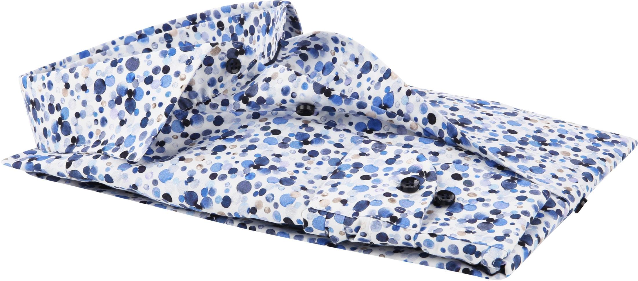 Profuomo Overhemd Polka Dot Blue photo 3