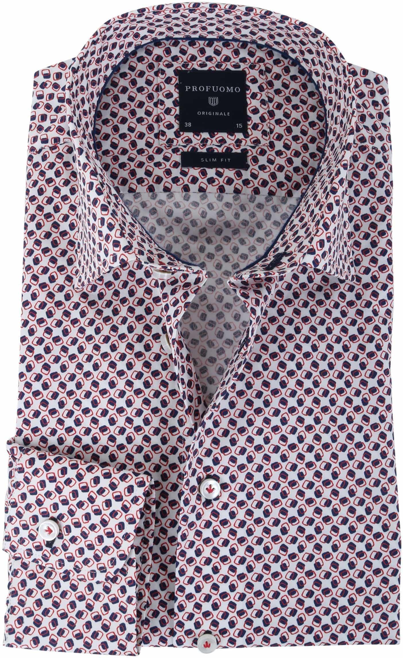 Rode Overhemd.Profuomo Overhemd Rode Print Ppoh1a1065 Online Bestellen Suitable