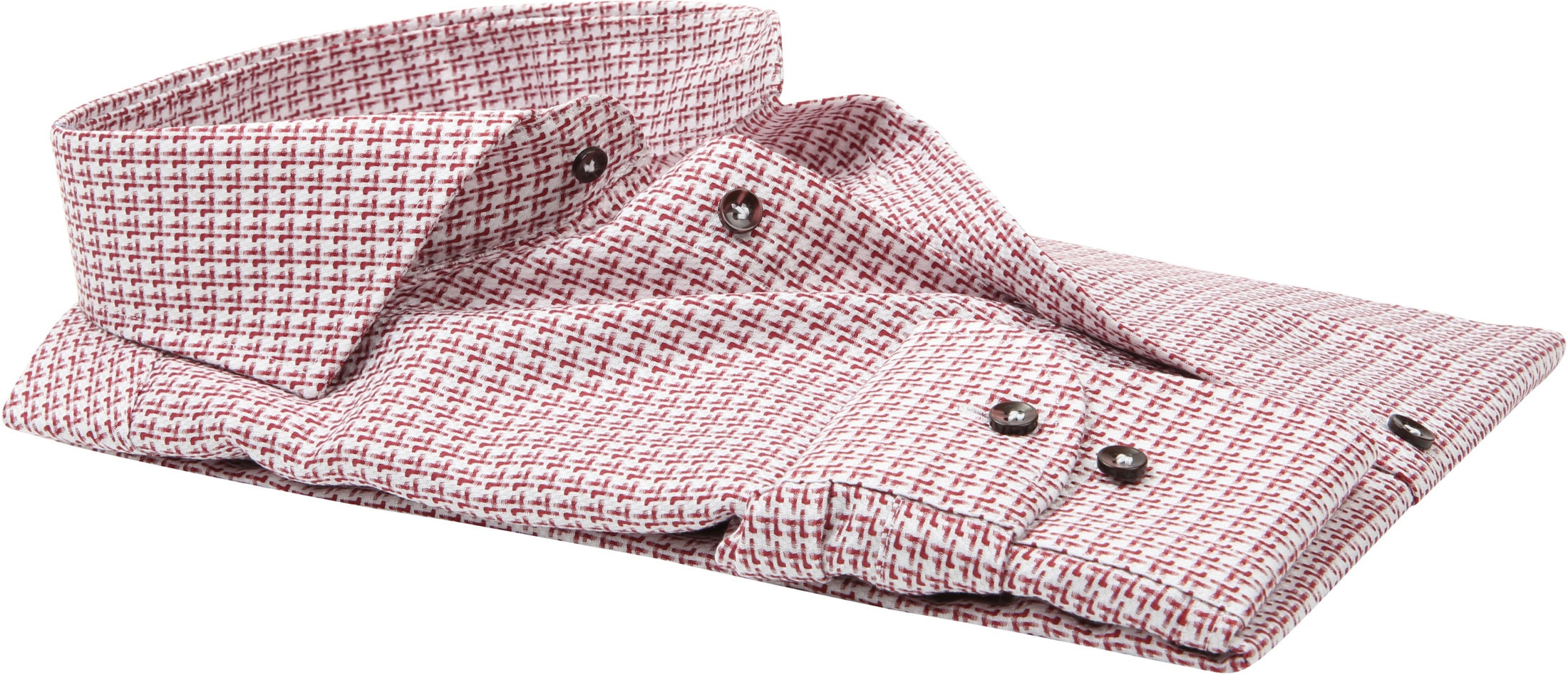 Profuomo Overhemd Rood Dessin foto 3