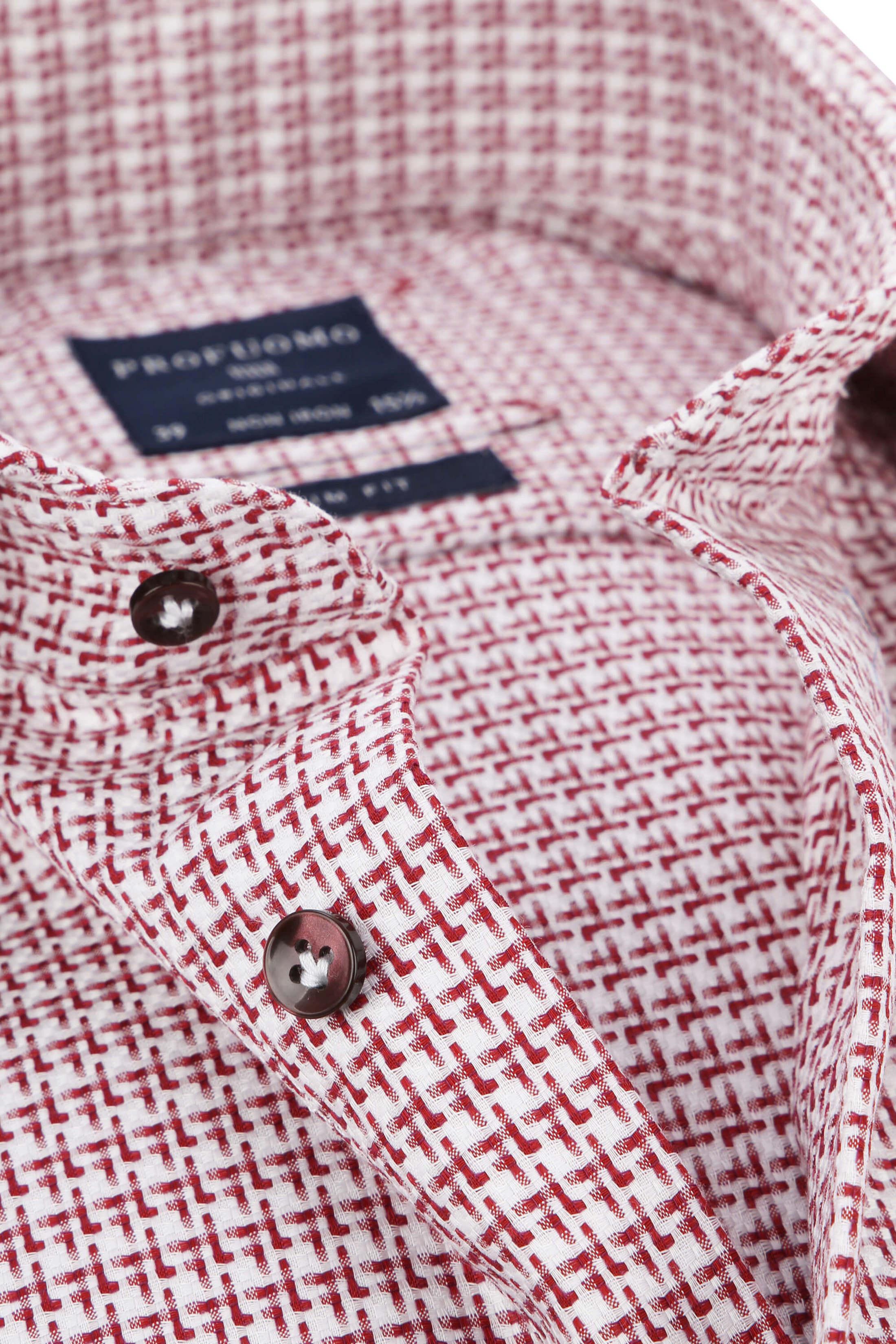 Profuomo Overhemd Rood Dessin foto 1
