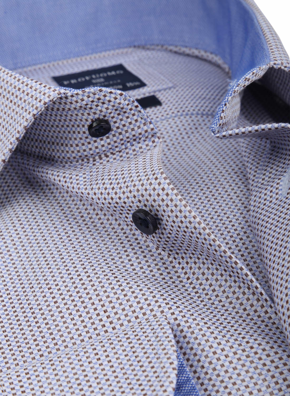 Profuomo Overhemd Ruit Bruin foto 1