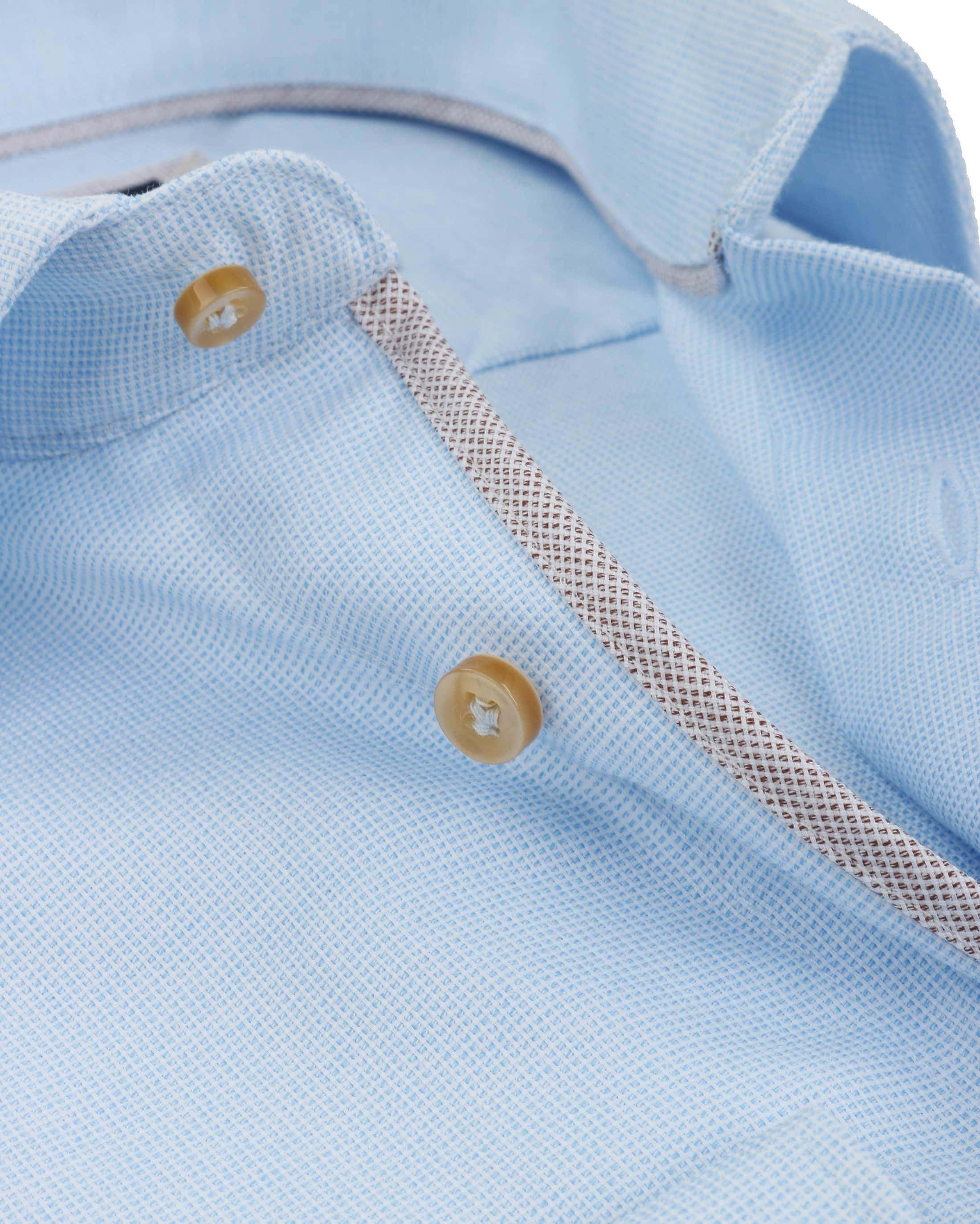 Profuomo Overhemd SF Blauw Ruit foto 1