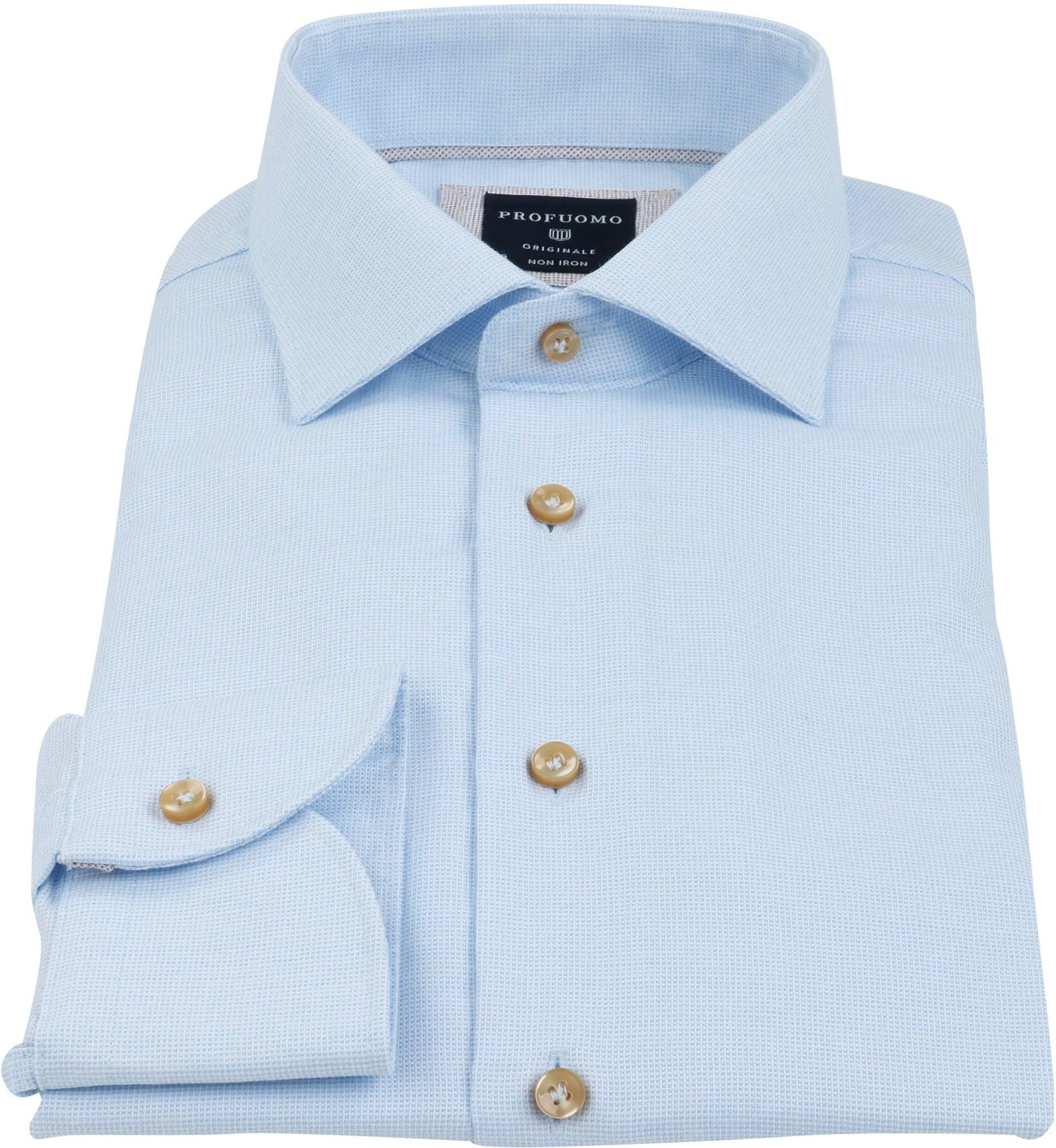 Profuomo Overhemd SF Blauw Ruit foto 2