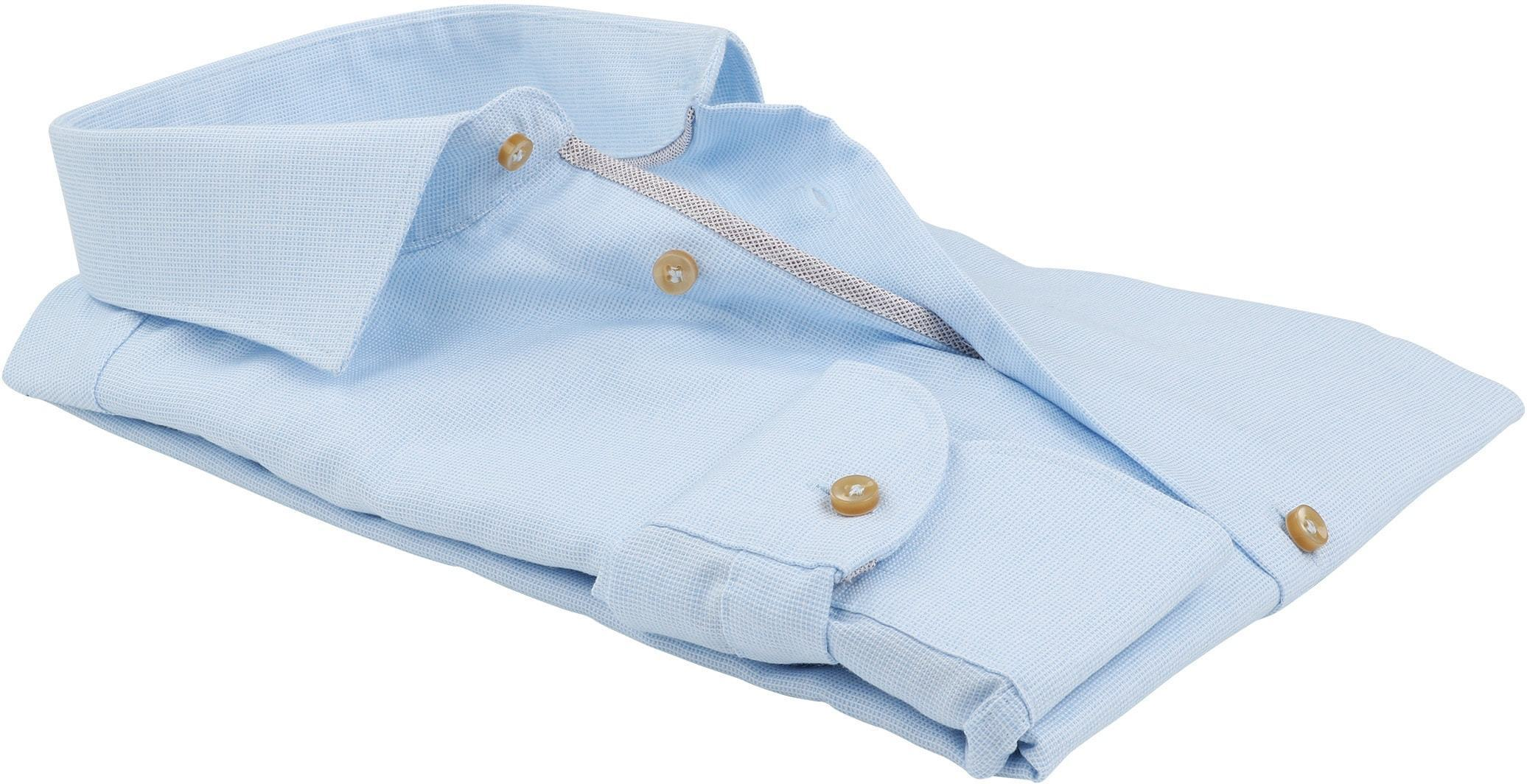 Profuomo Overhemd SF Blauw Ruit foto 3