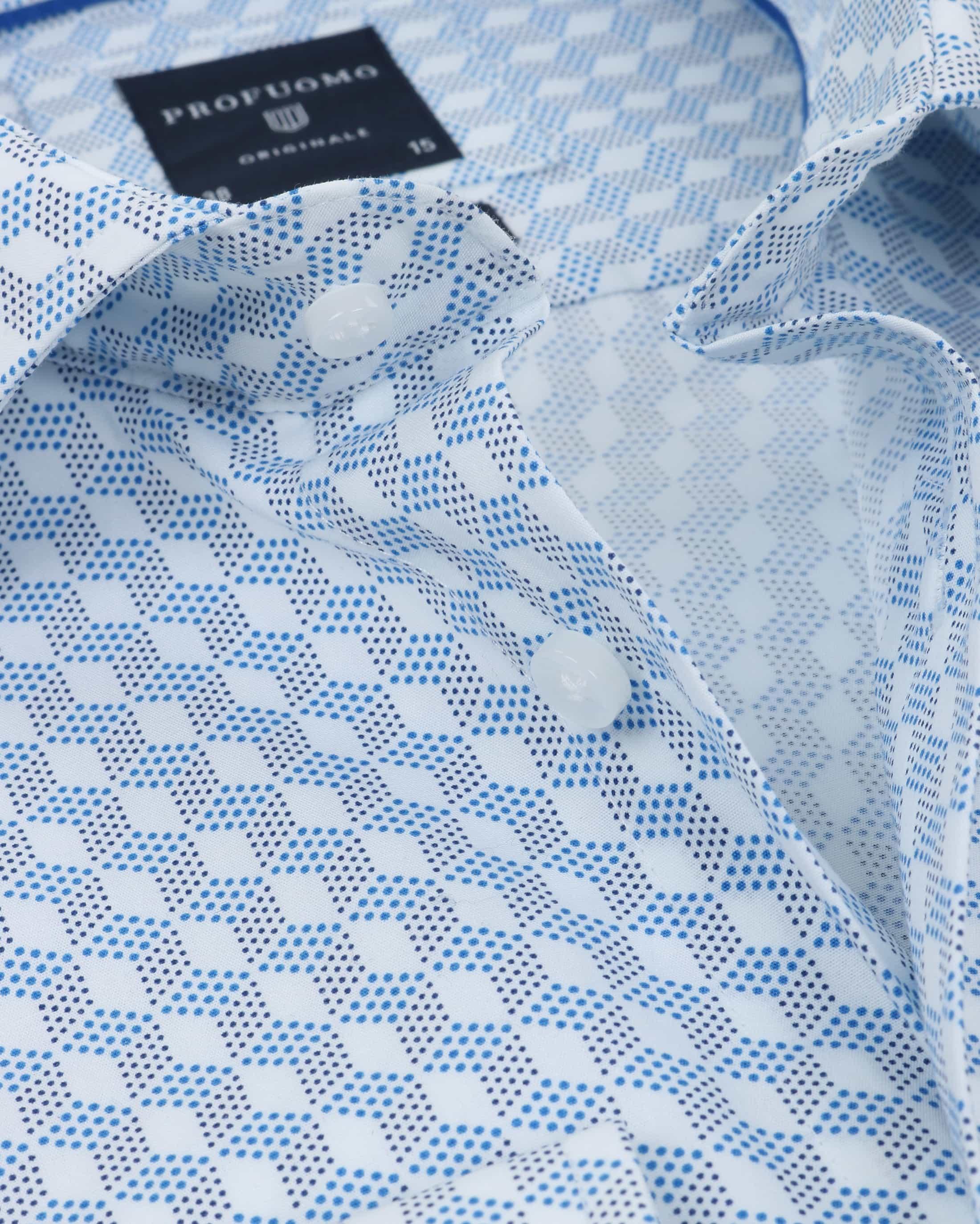 Profuomo Overhemd SF Dessin Blauw foto 1