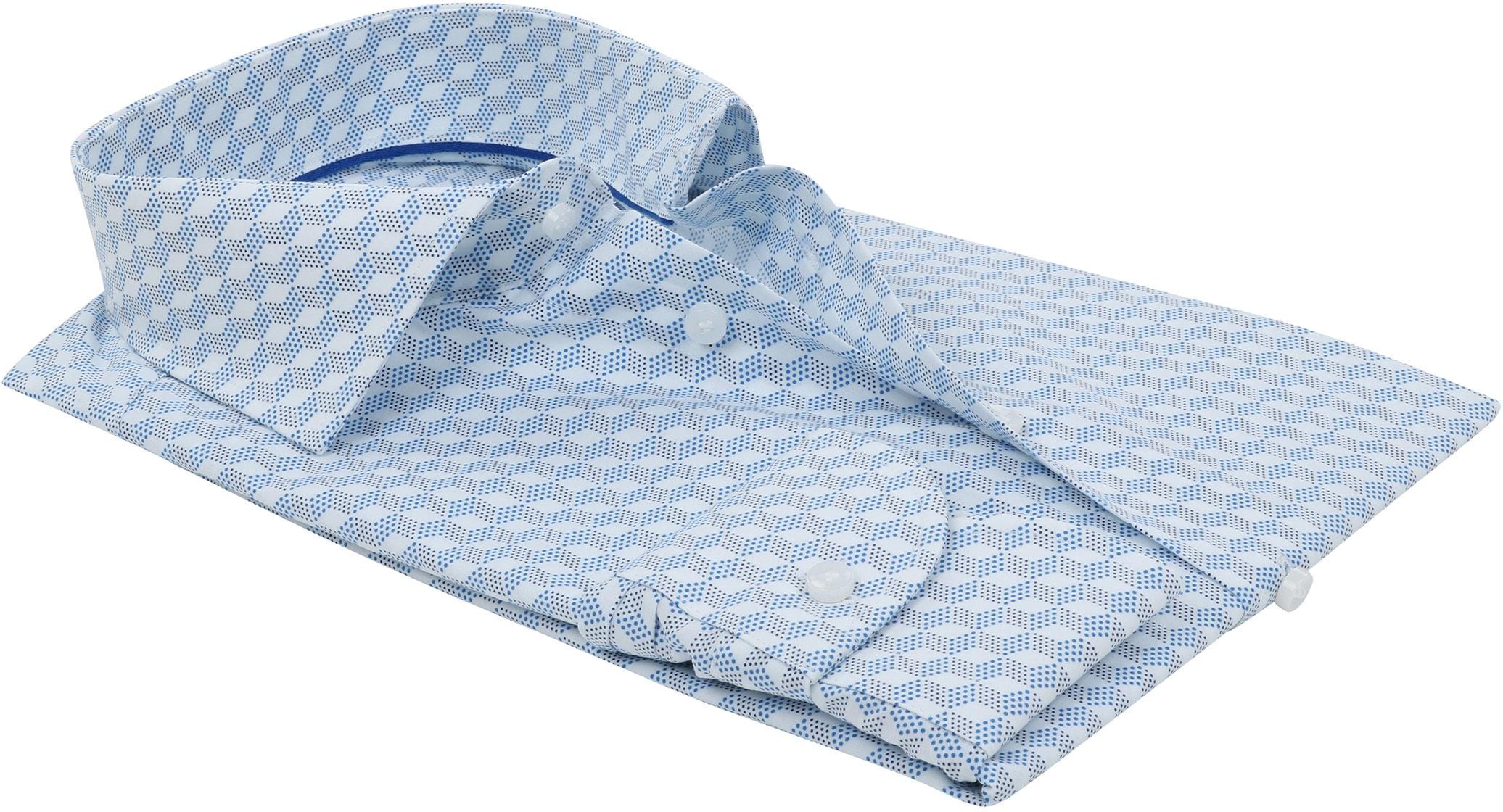 Profuomo Overhemd SF Dessin Blauw foto 3