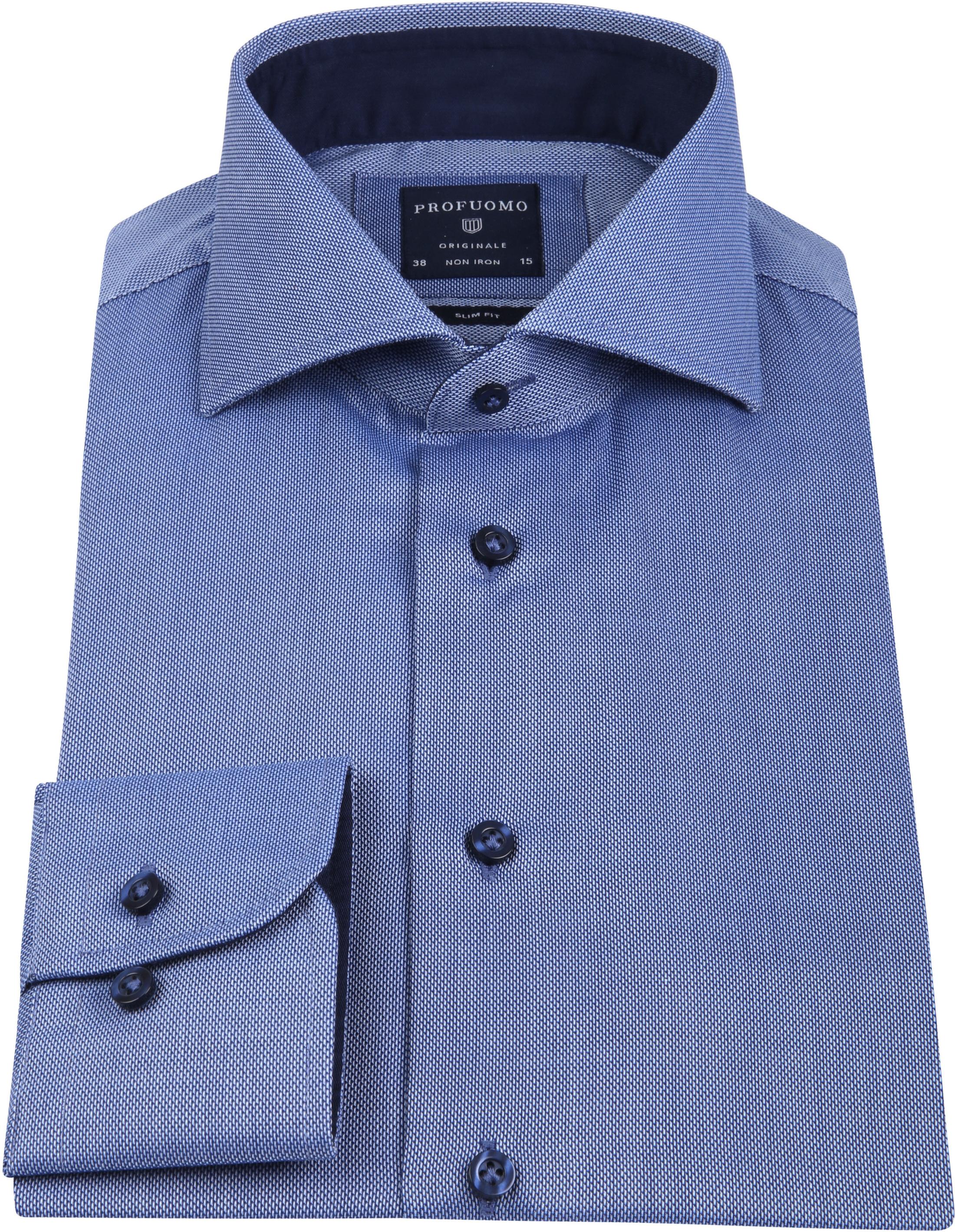 Profuomo Overhemd SF Non Iron Blauw foto 2