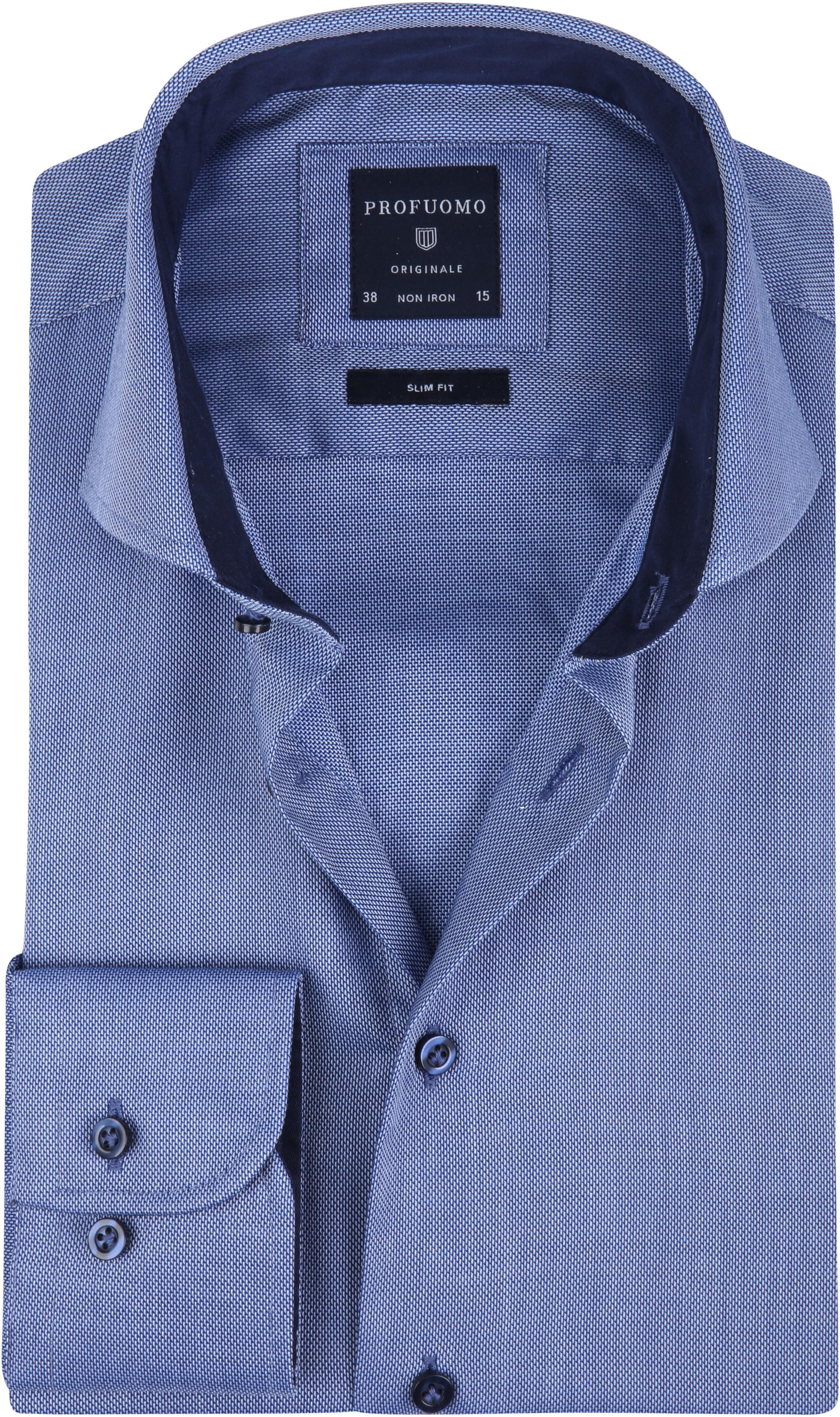 Profuomo Overhemd SF Non Iron Blauw foto 0