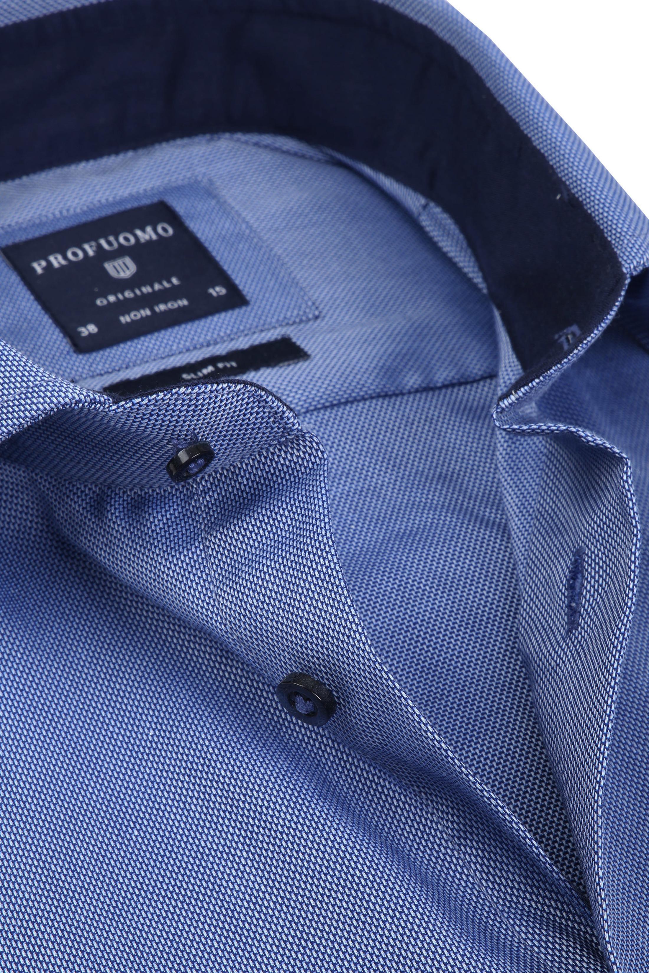Profuomo Overhemd SF Non Iron Blauw foto 1