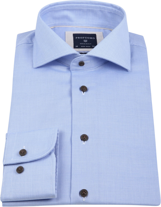 Profuomo Overhemd SF Non Iron Lichtblauw foto 2