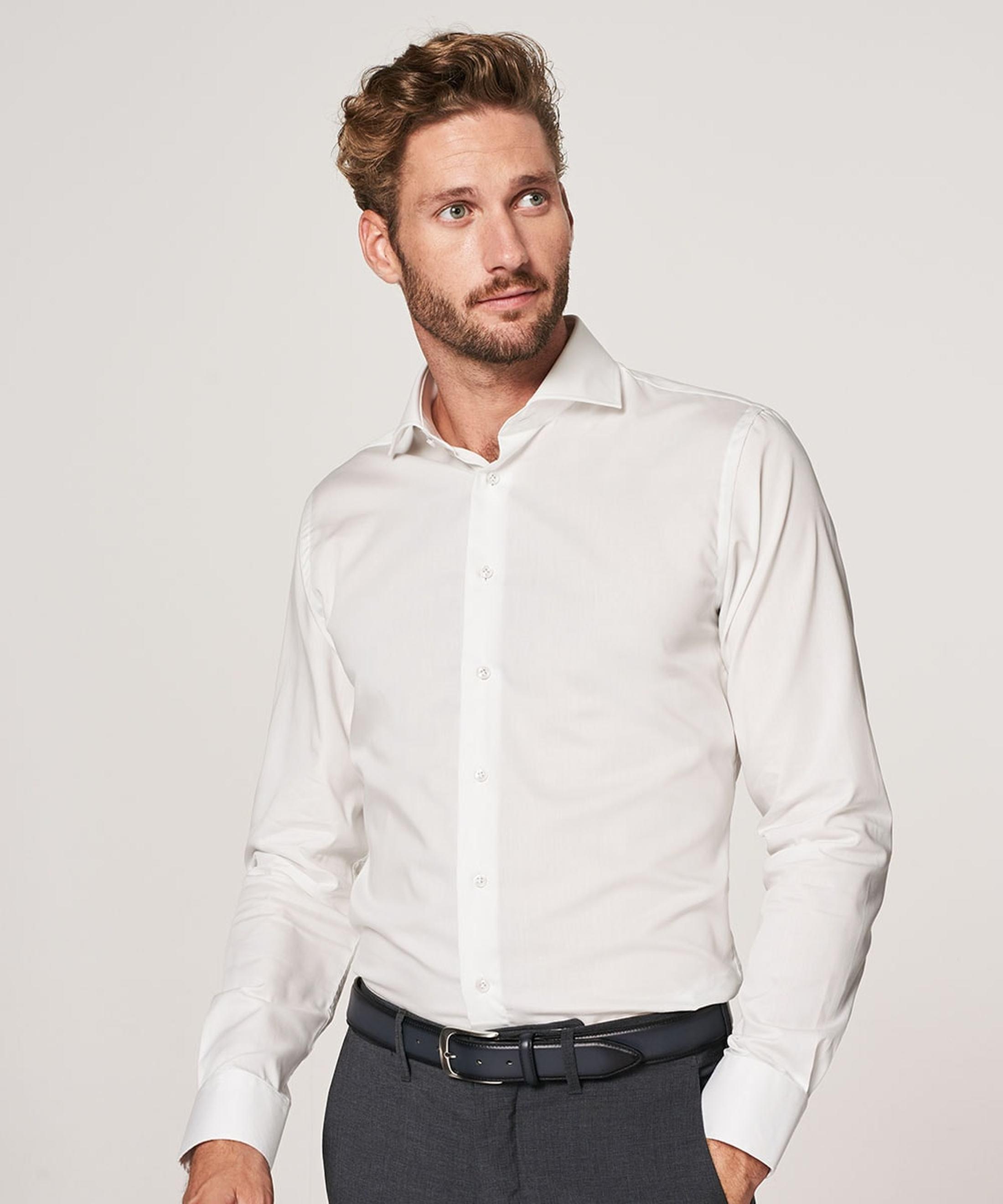 Profuomo Overhemd SF Off White foto 4