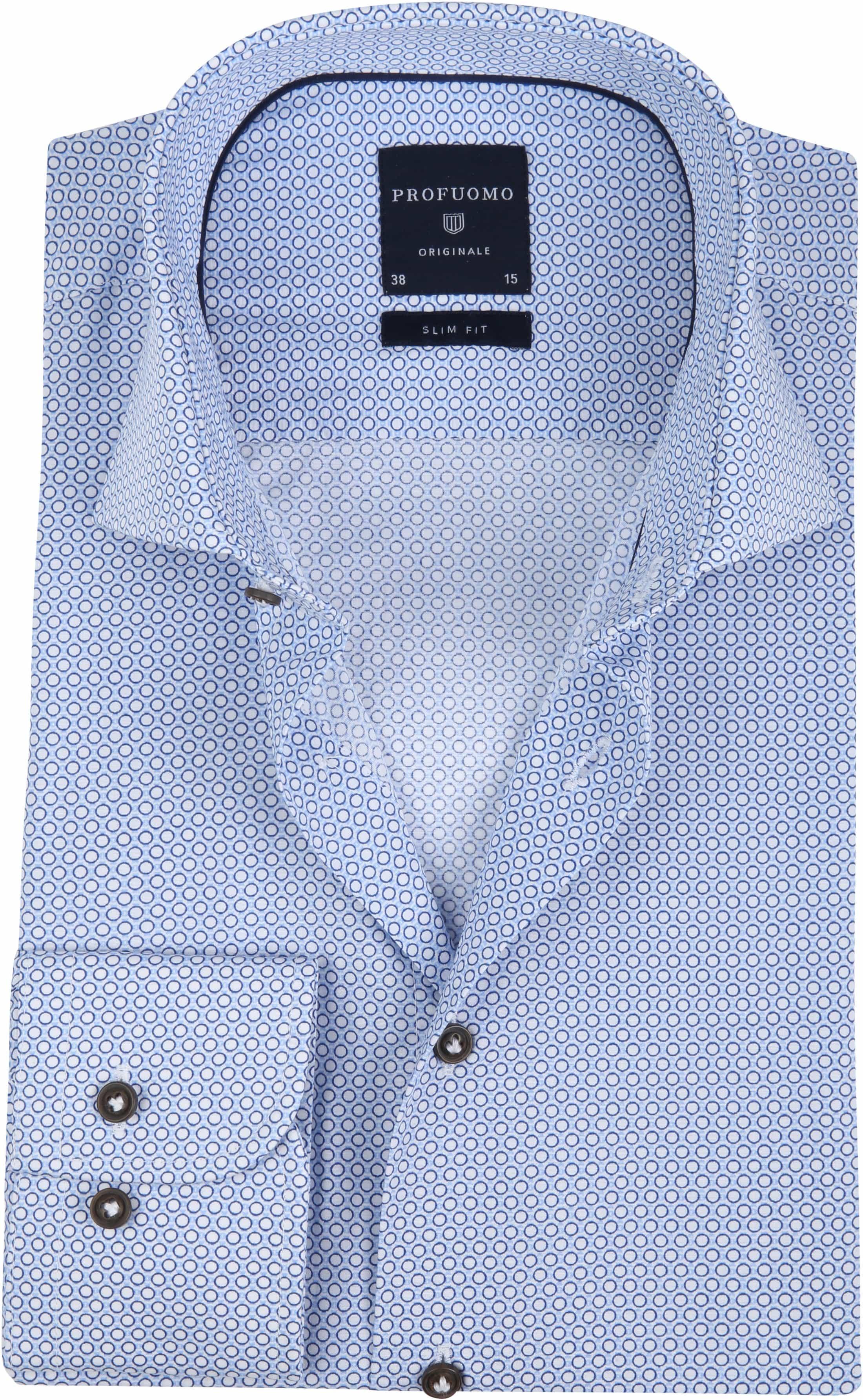 Profuomo Overhemd.Profuomo Overhemd Slim Fit Blauw Dessin Ppph4a0006 Online Bestellen