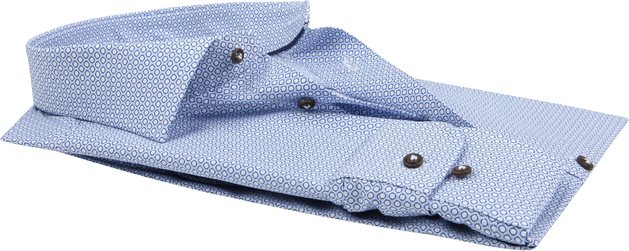 Profuomo Overhemd Slim-Fit Blauw Dessin foto 3