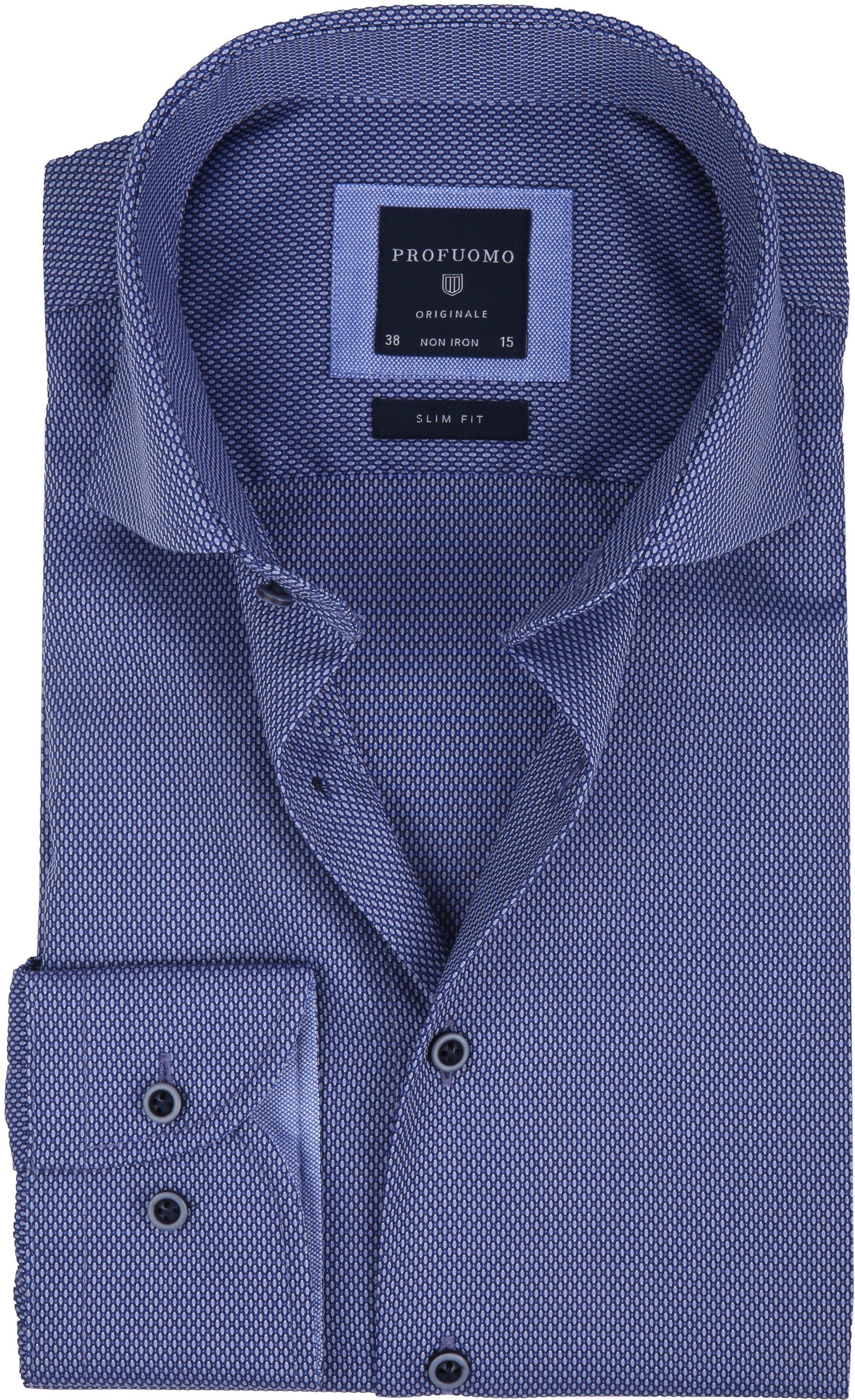 Profuomo Overhemd Slim-Fit Non Iron Blauw foto 0
