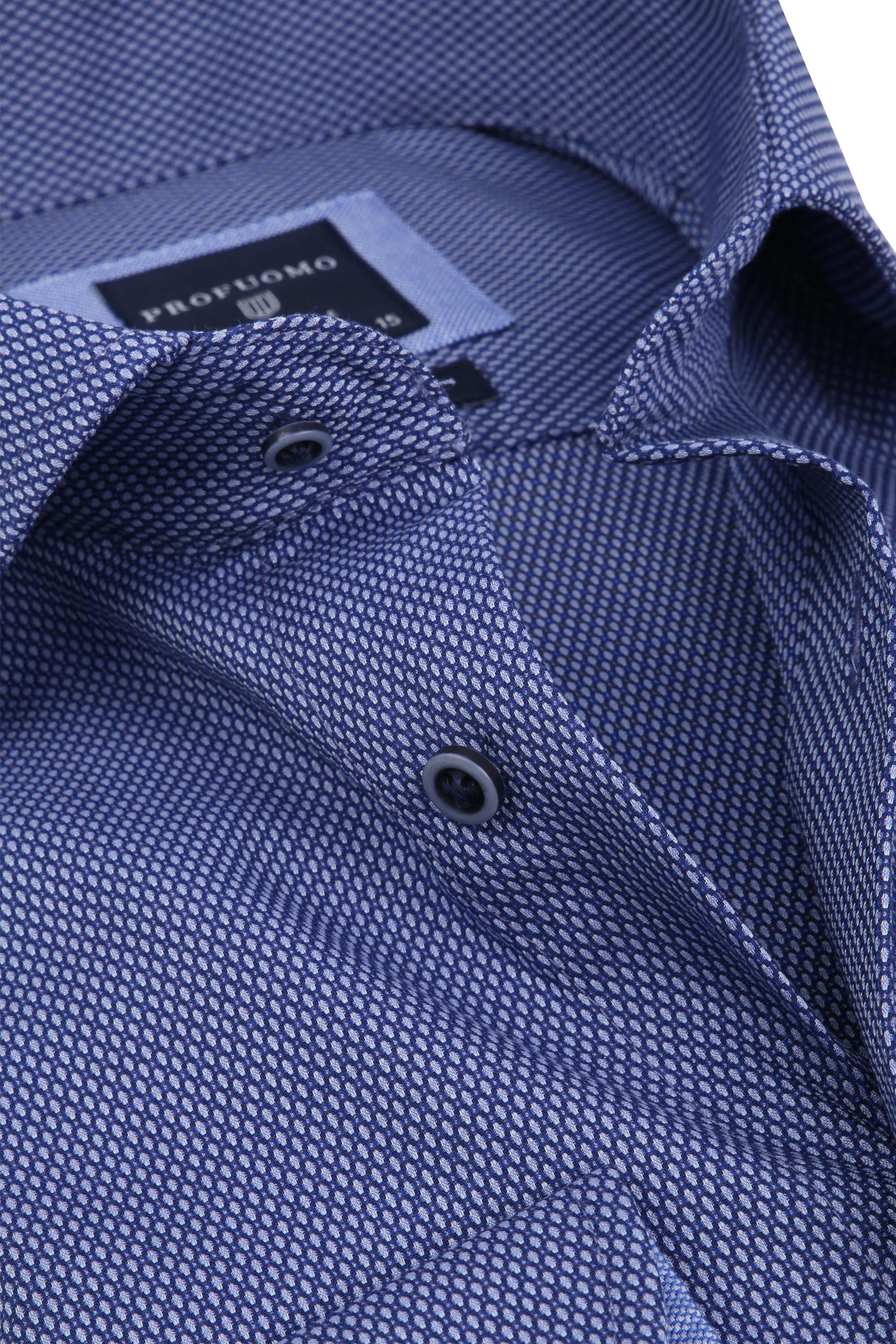 Profuomo Overhemd Slim-Fit Non Iron Blauw foto 1