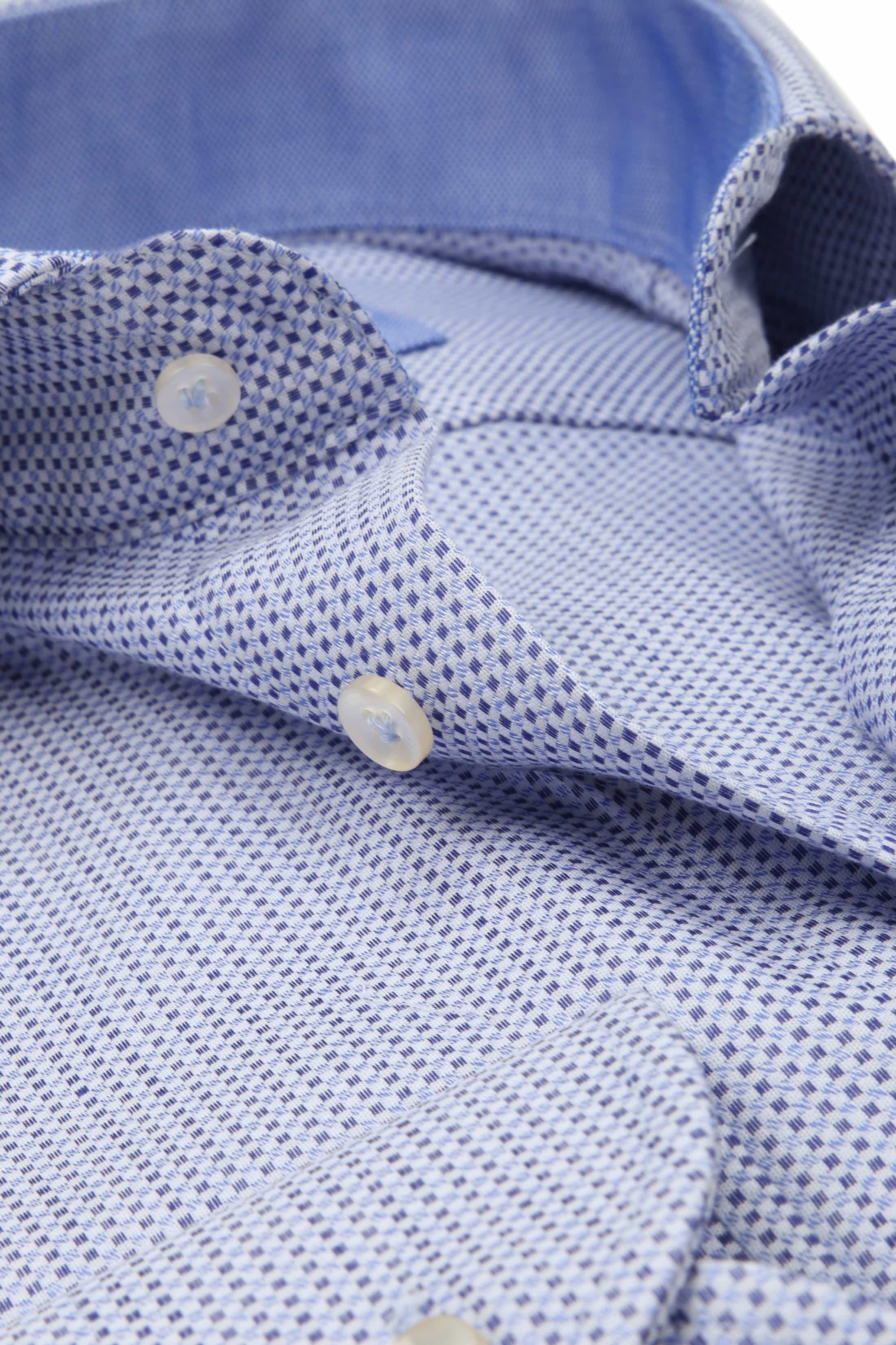 Profuomo Overhemd Slim-Fit Oxfort Blauw foto 1