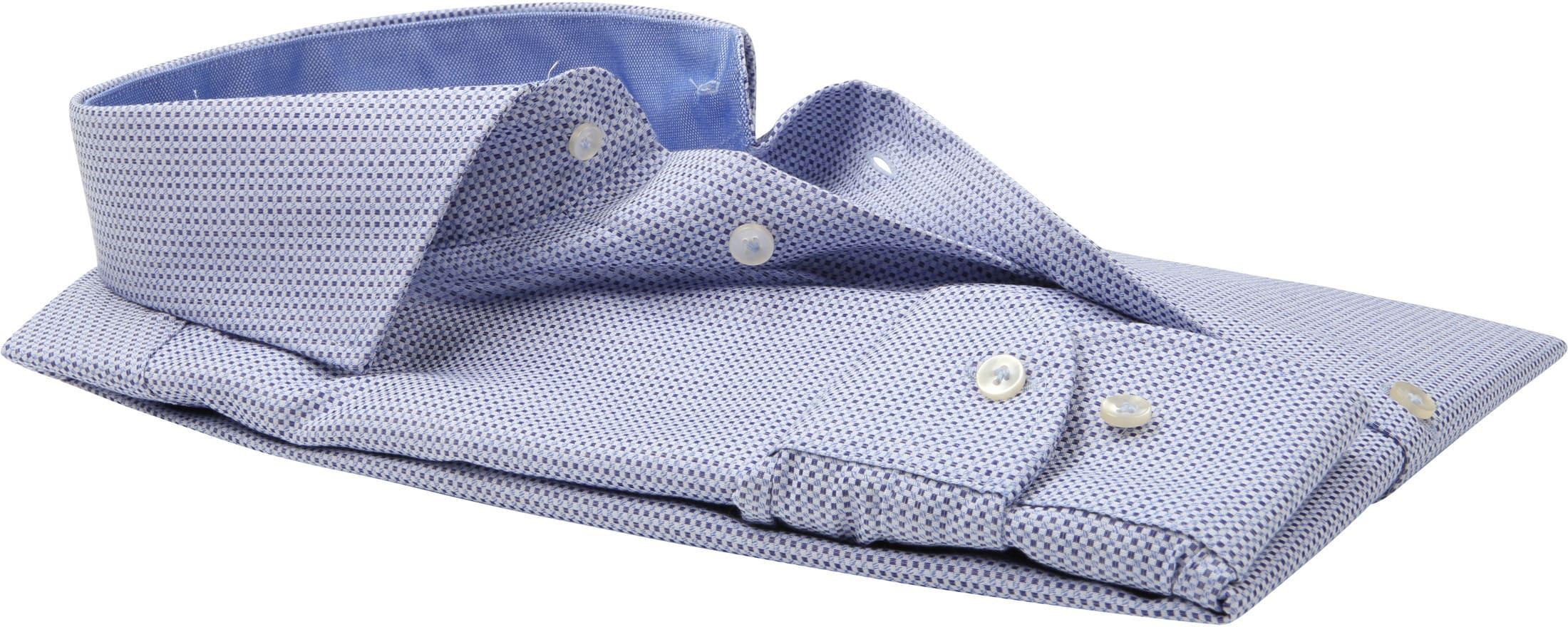 Profuomo Overhemd Slim-Fit Oxfort Blauw foto 3