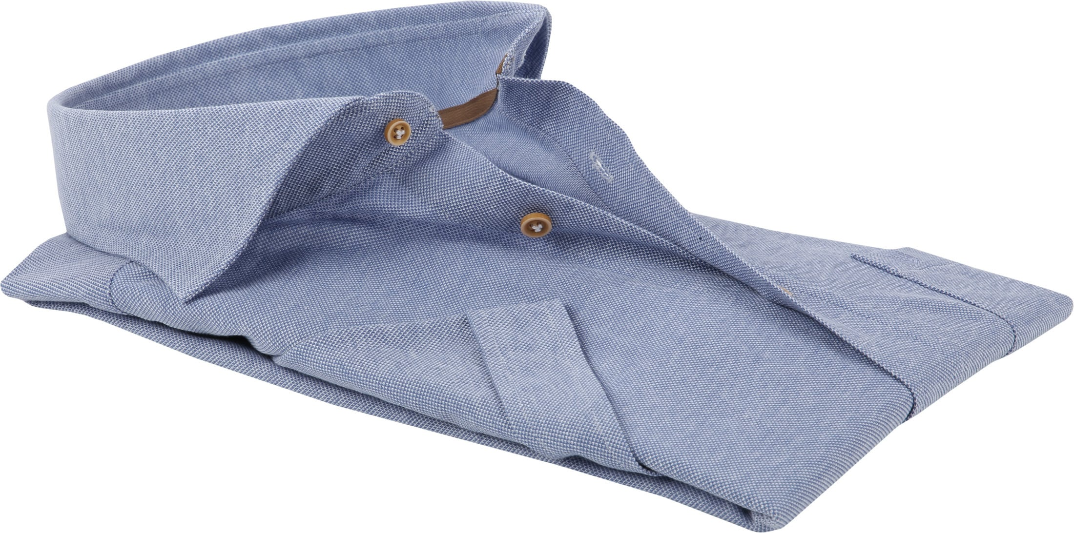 Profuomo Overhemd SS Knitted Blauw