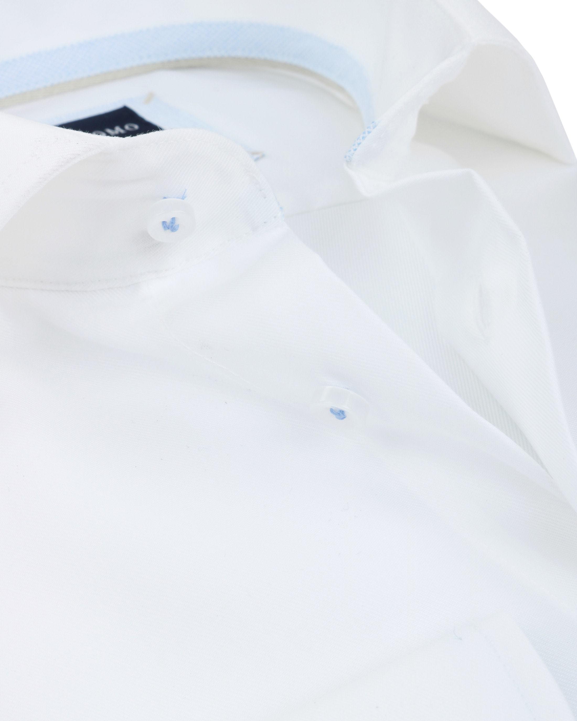 Profuomo Overhemd Strijkvrij Wit Blauw foto 1