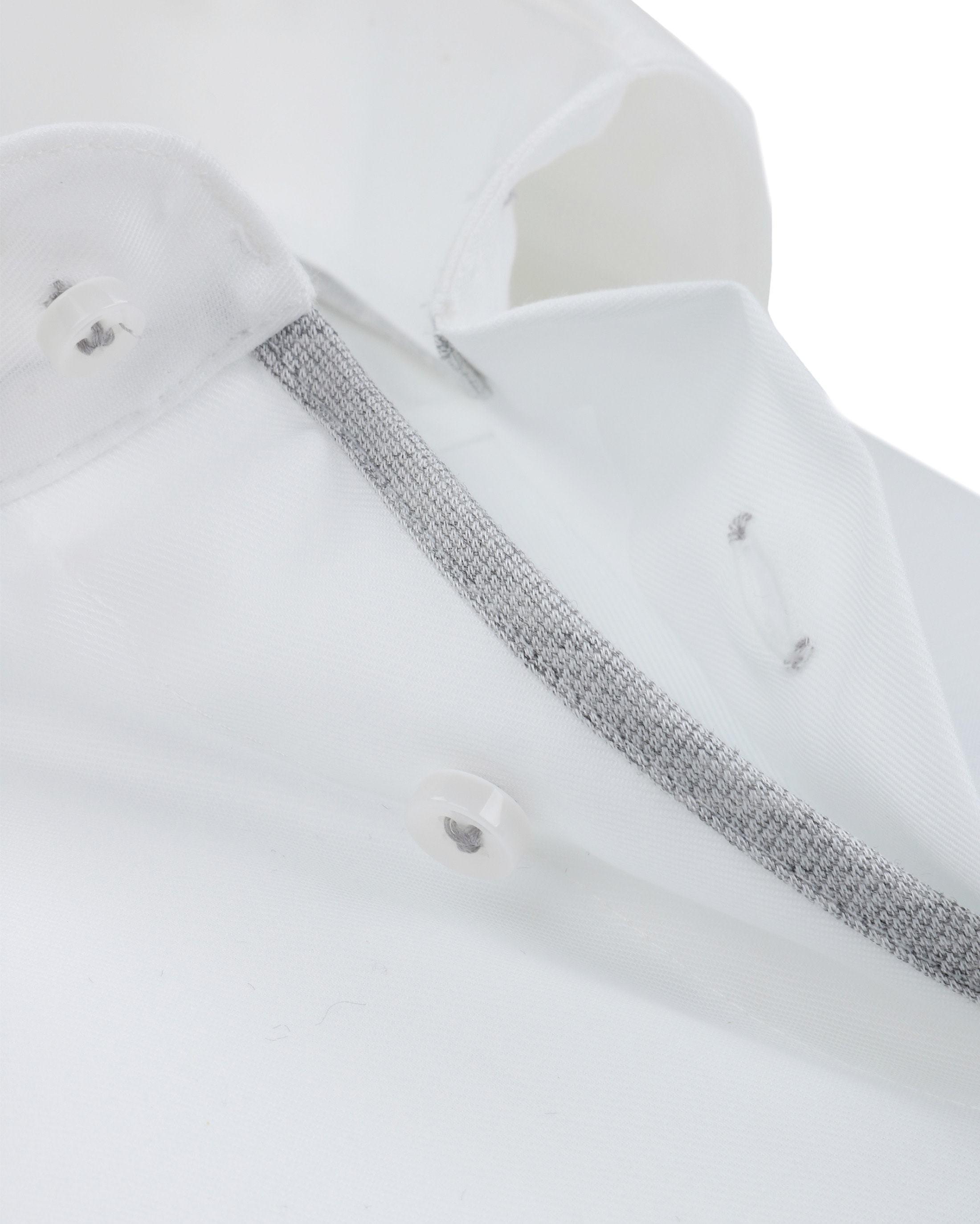 Profuomo Overhemd Strijkvrij Wit Grijs foto 1