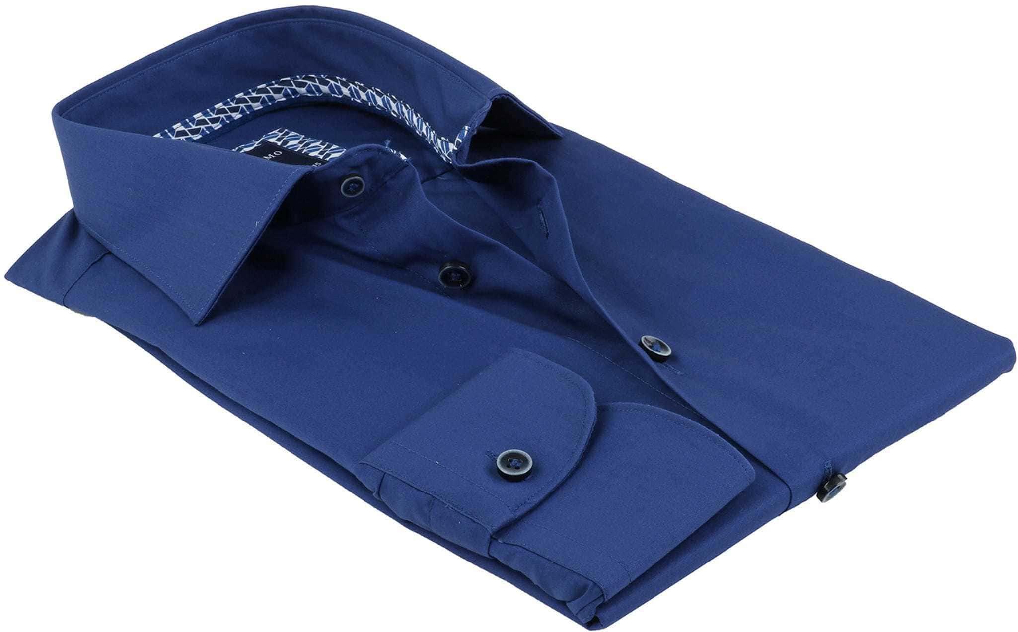 Profuomo Overhemd Uni Blauw Non Iron foto 3