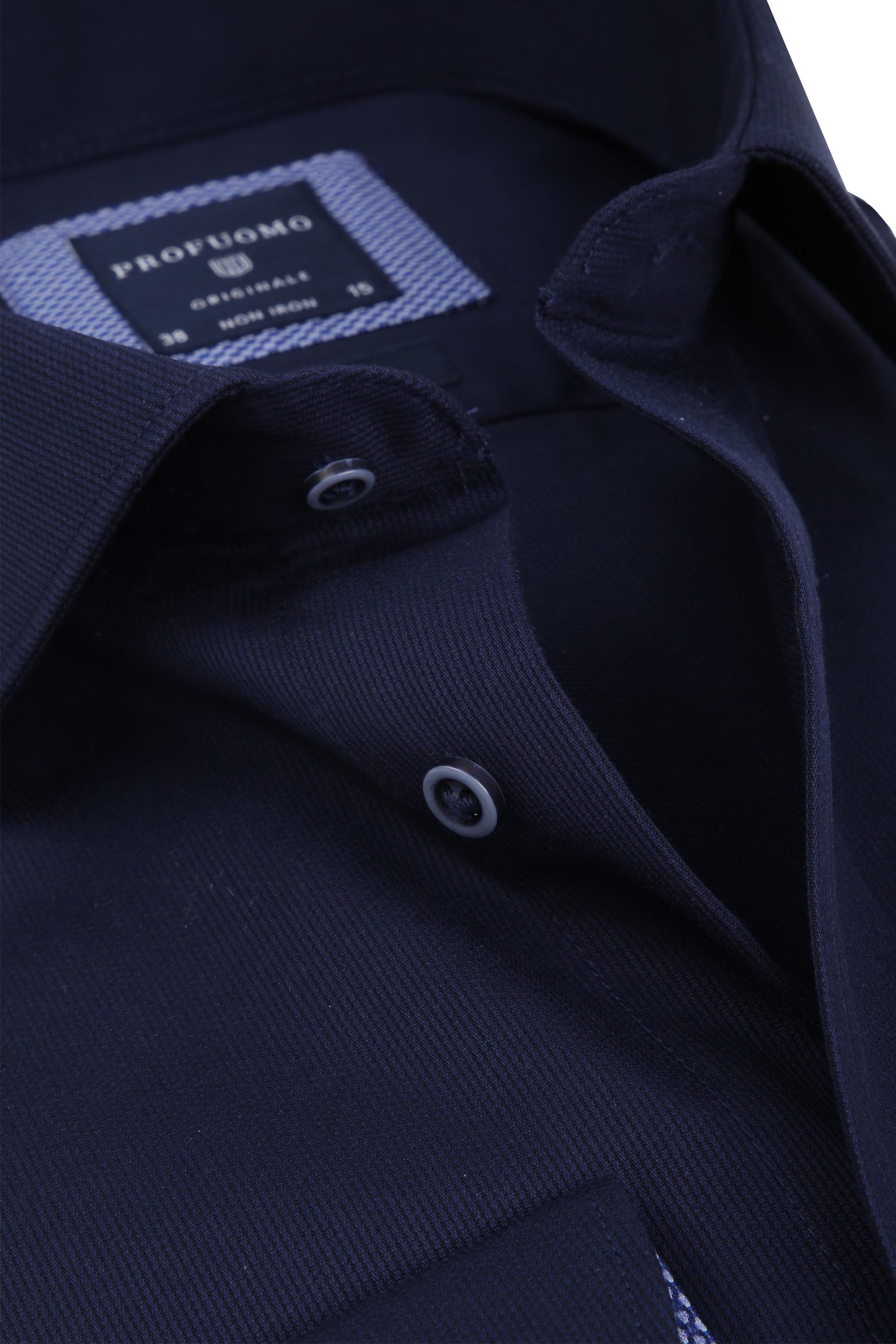 Profuomo Overhemd Uni Navy foto 1